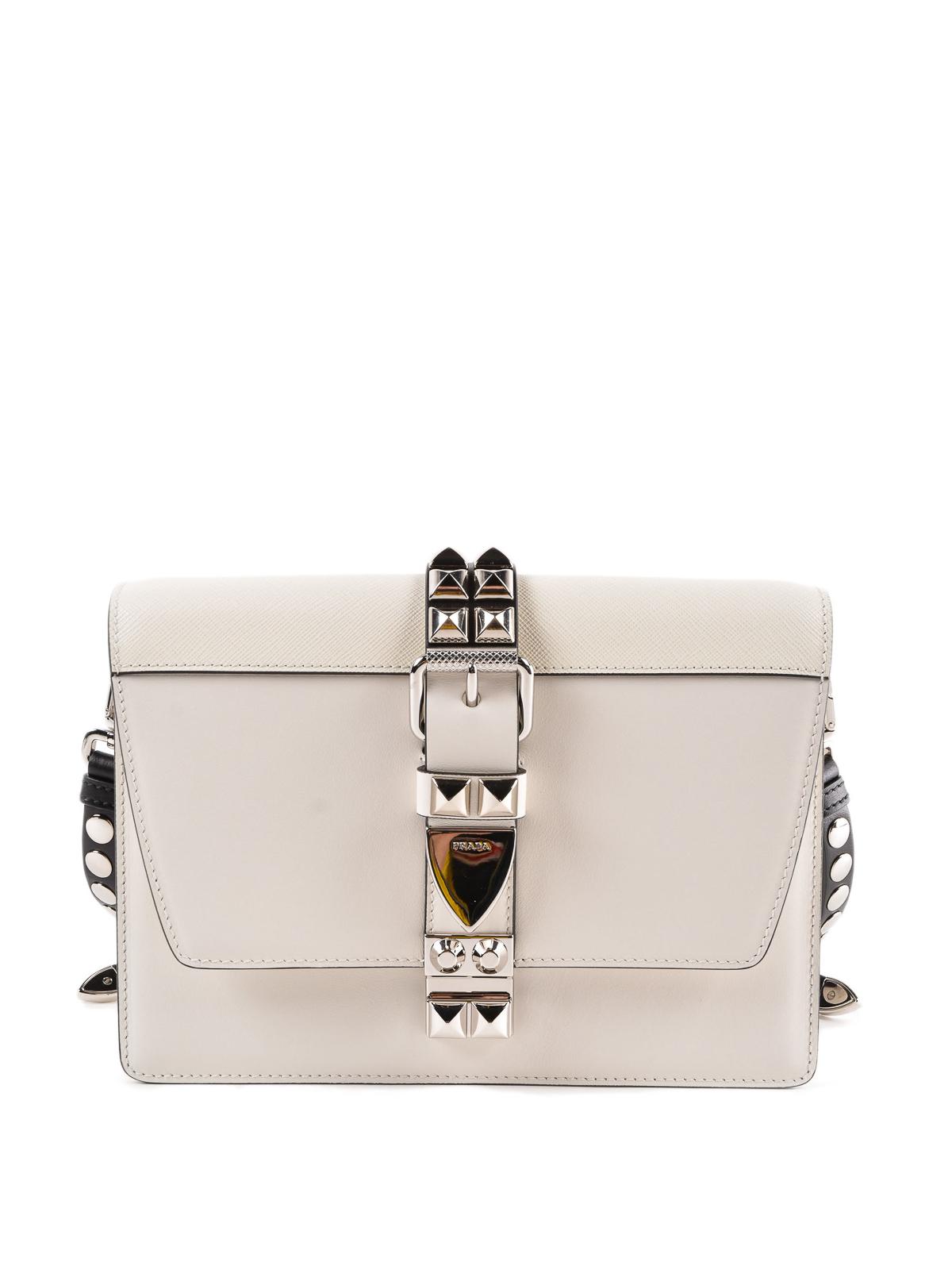 ff1d7d5b25469 Prada - Elektra white leather bag - cross body bags - 1BD1202BB0VOBH964