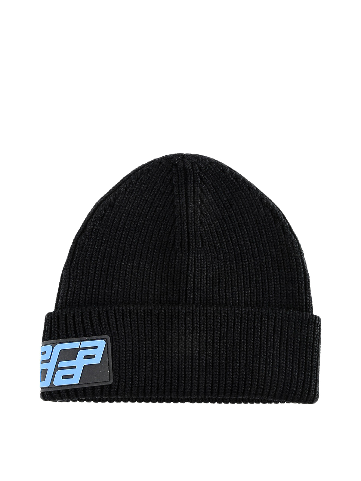 80e860056d5 Prada - Wool beanie with logo - hats   caps - 27378MPG002