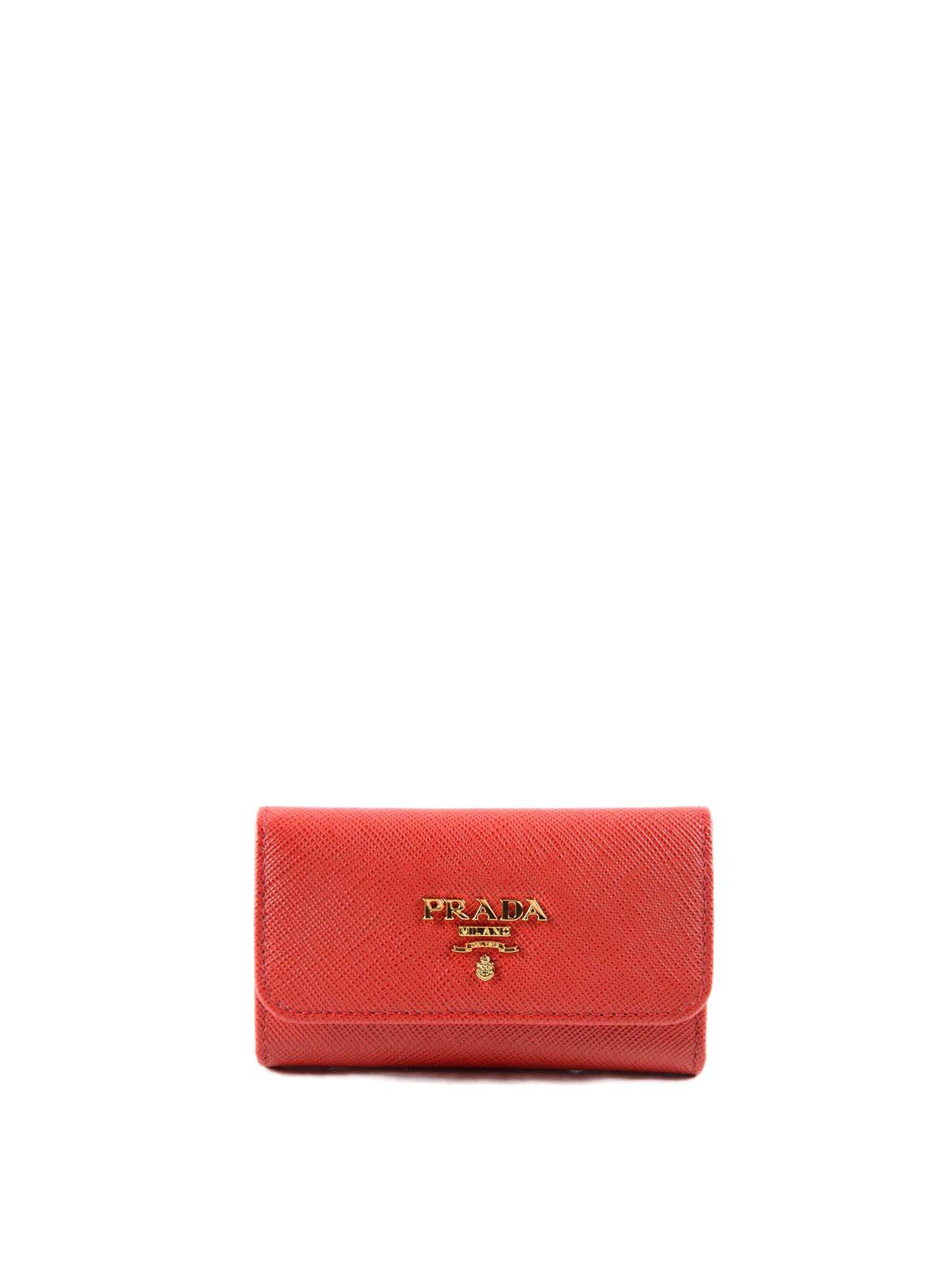 2d0f548cdbe4 Prada - Saffiano leather key holder - key holders - 1PG222 QWA 011