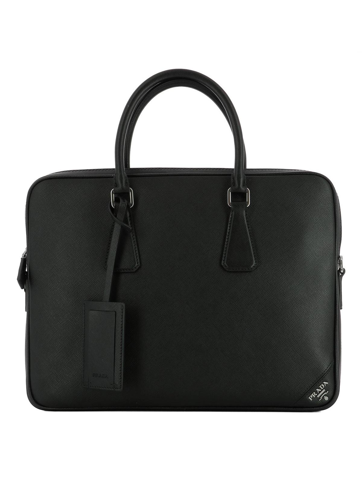 7d4385398892 PRADA  laptop bags   briefcases - Saffiano leather classic briefcase