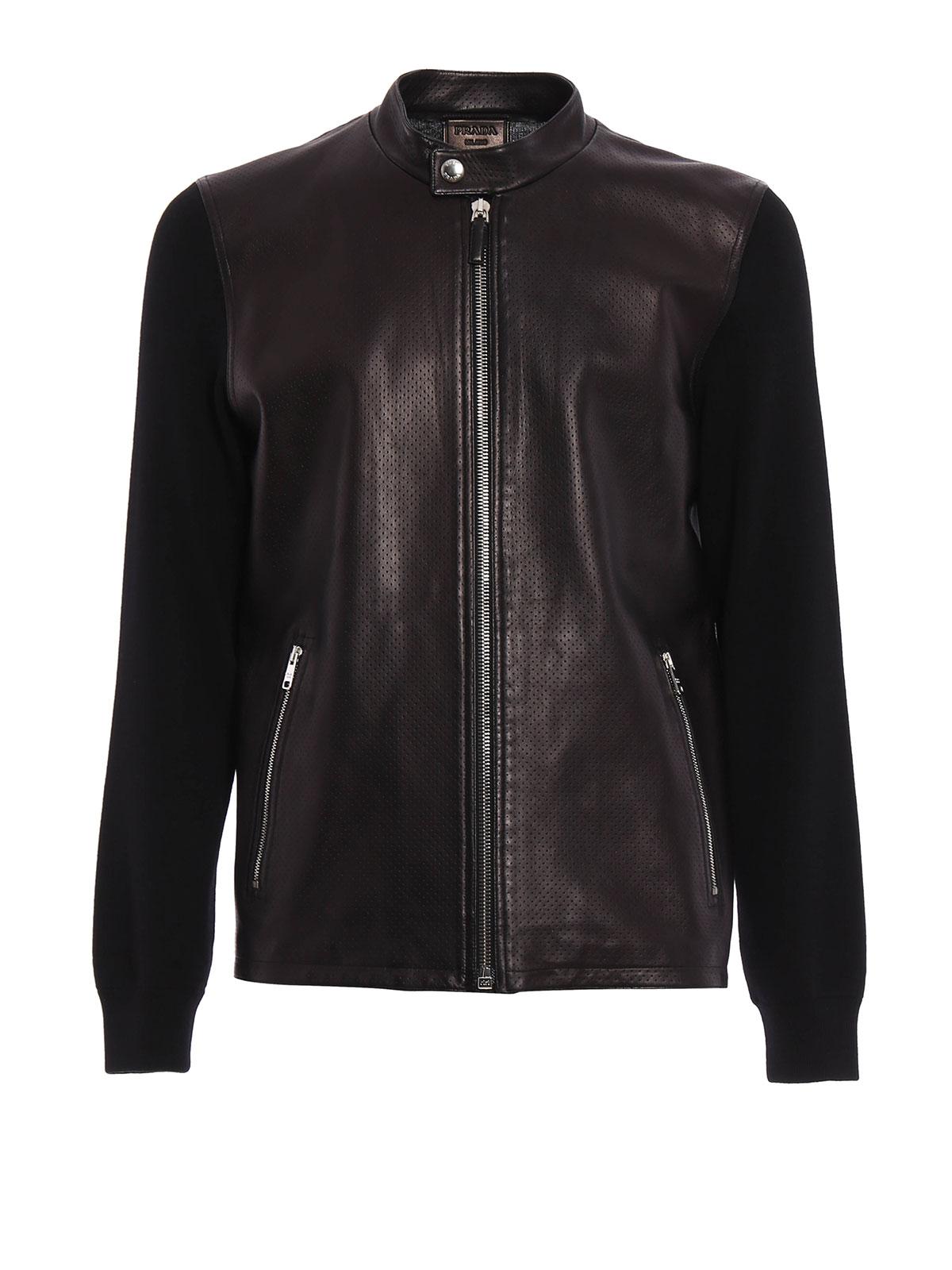 Wool leather jacket