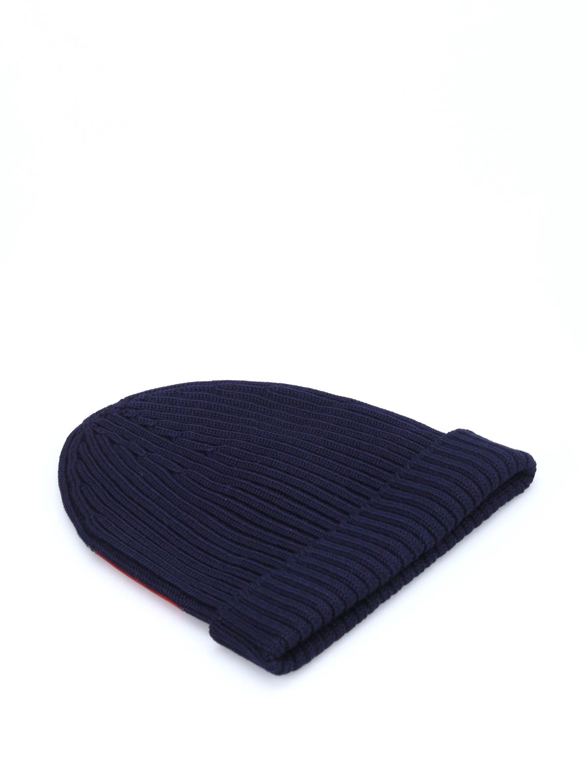 Prada Linea Rossa - Ribbed wool beanie - beanies - SMB1 U97 008 828d7b9e6460