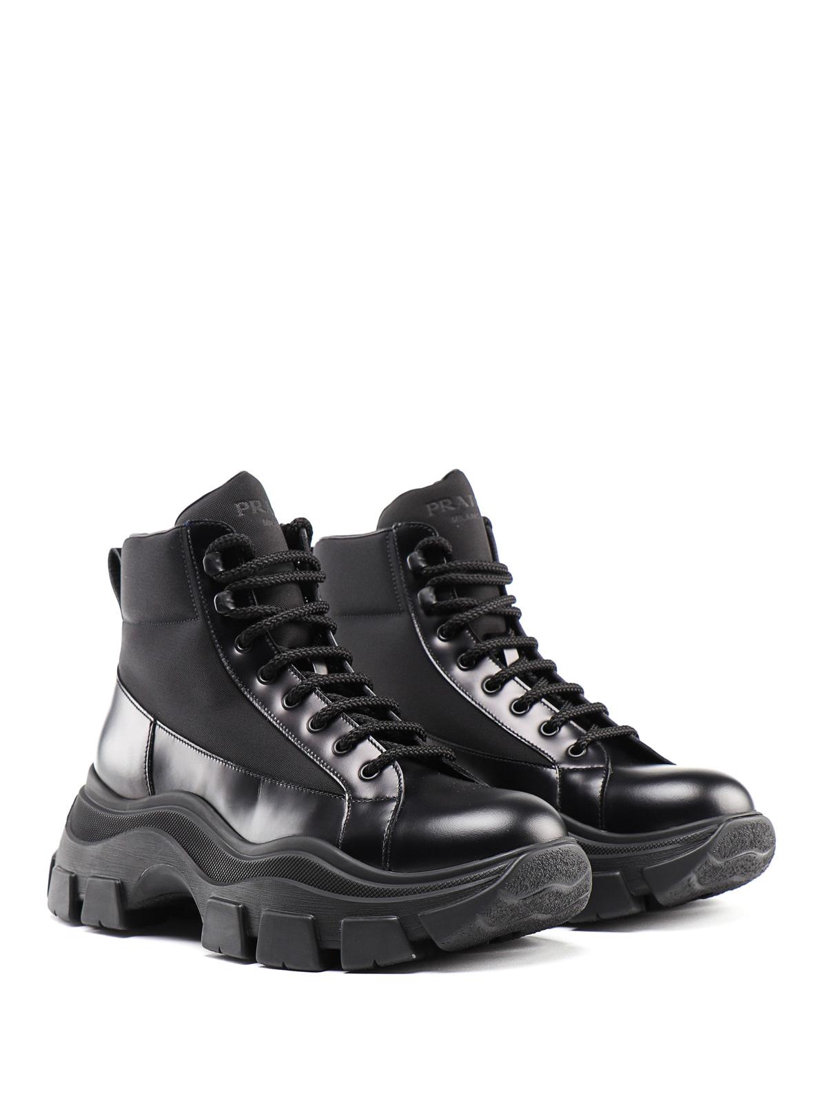 Prada - Pegasus chunky ankle boots