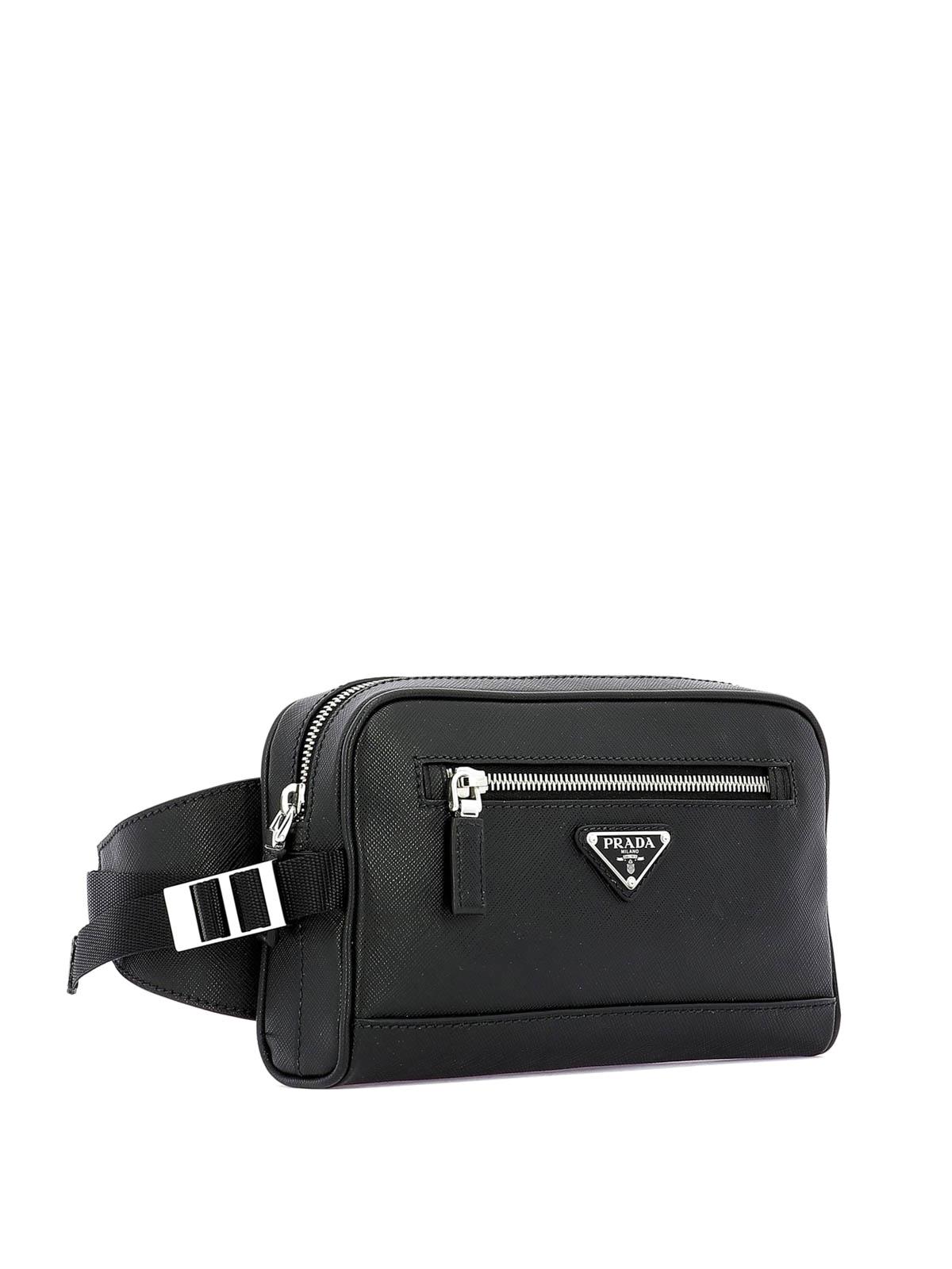 3cc5a3111b Prada - Black saffiano leather belt bag - belt bags - 2VL0129Z2F0002