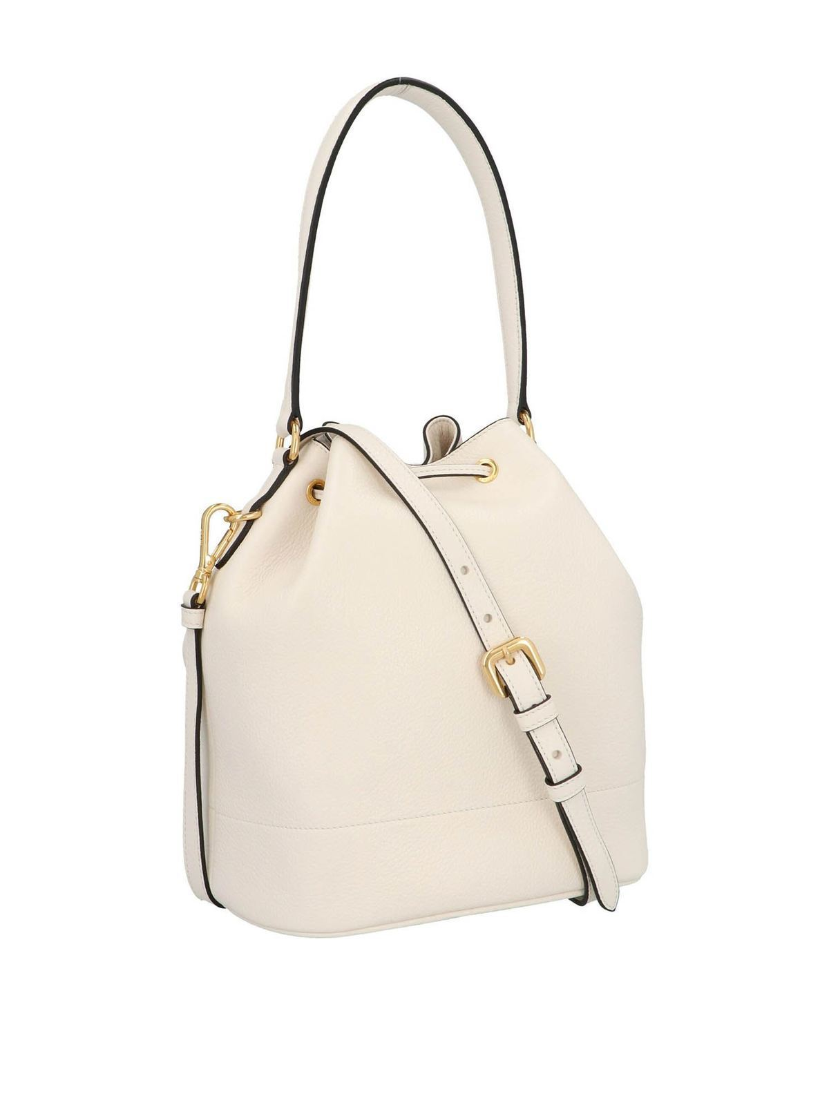 Prada Bucket Bag In White Bucket Bags 1be018nom2bbef0ygn Ikrix Com