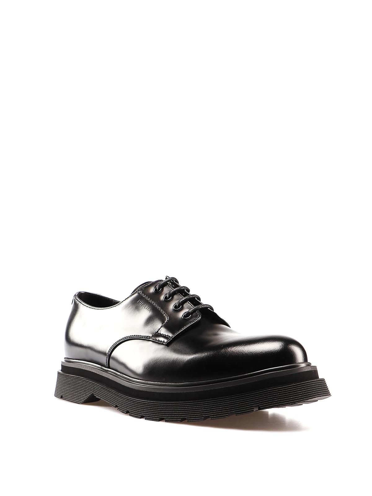 Prada - Chunky sole detailed leather
