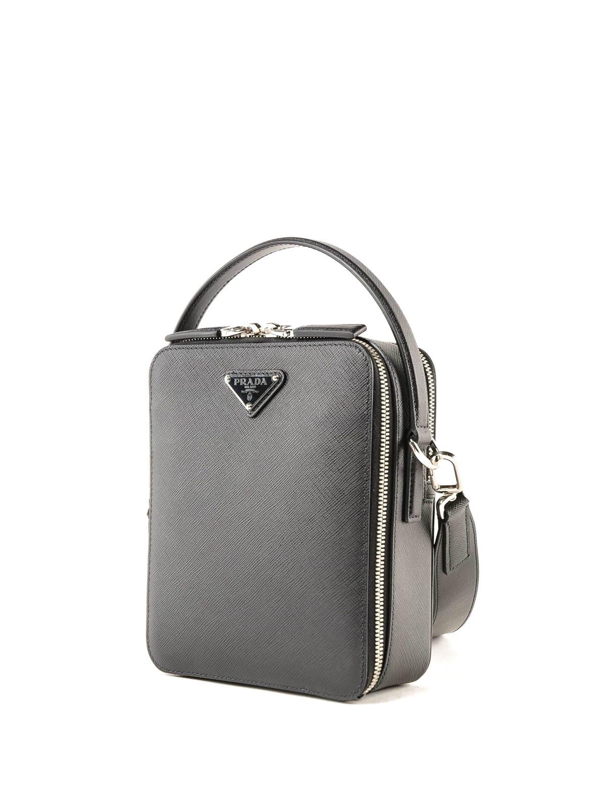 ffb823eea67d PRADA  cross body bags online - Black saffiano leather crossbody bag