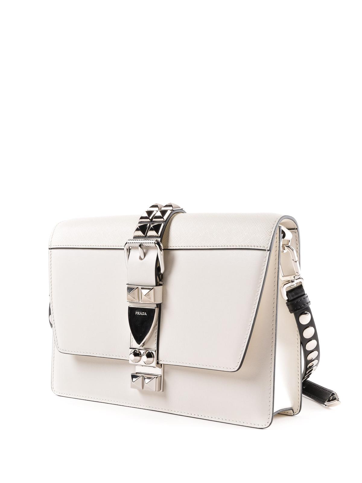 65d49cca4ddd Prada - Elektra white leather bag - cross body bags - 1BD1202BB0VOBH964