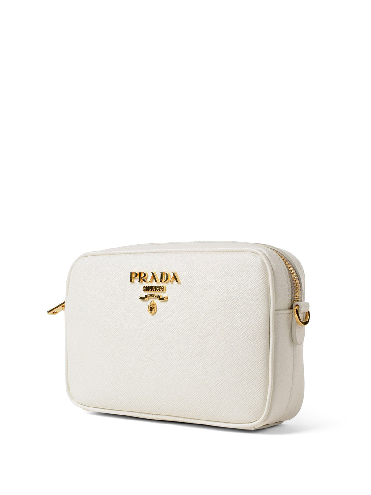 3a824ce5b17f0 PRADA: cross body bags online - White saffiano leather crossbody