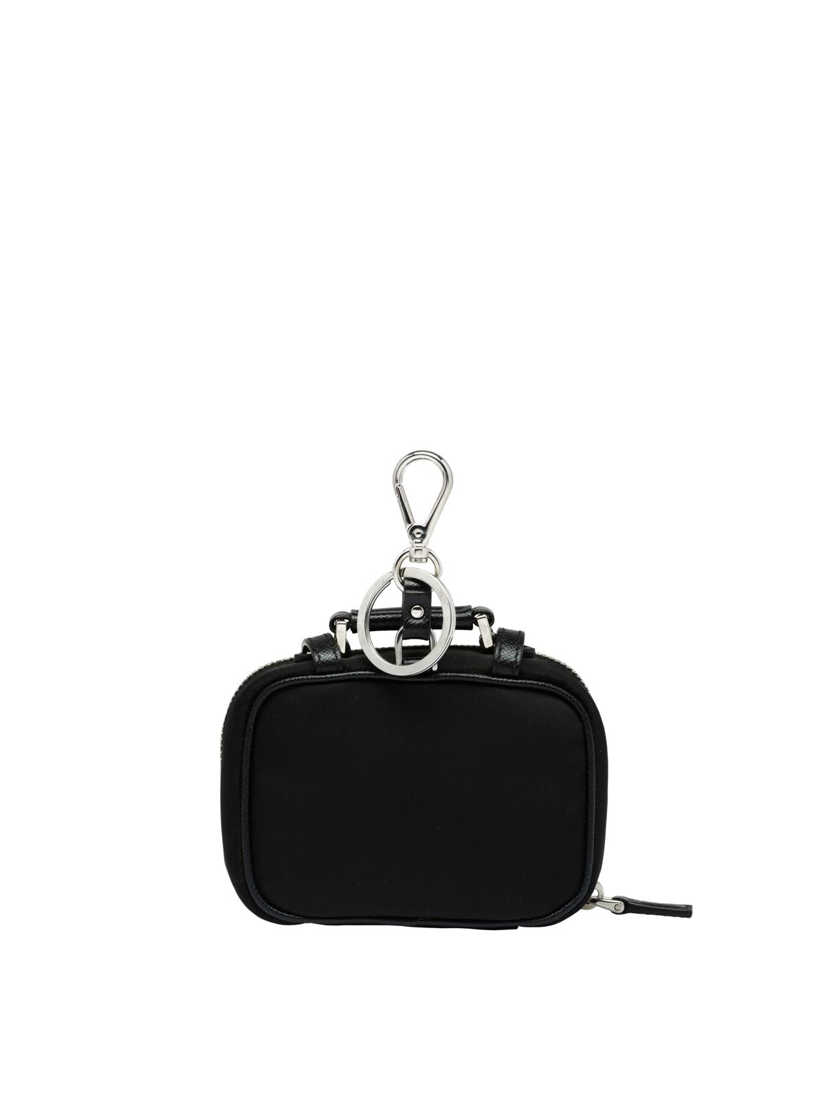 b35d1b5a94 Prada - Trick nylon and leather keyring - key holders - 2TT062 D02 F0002