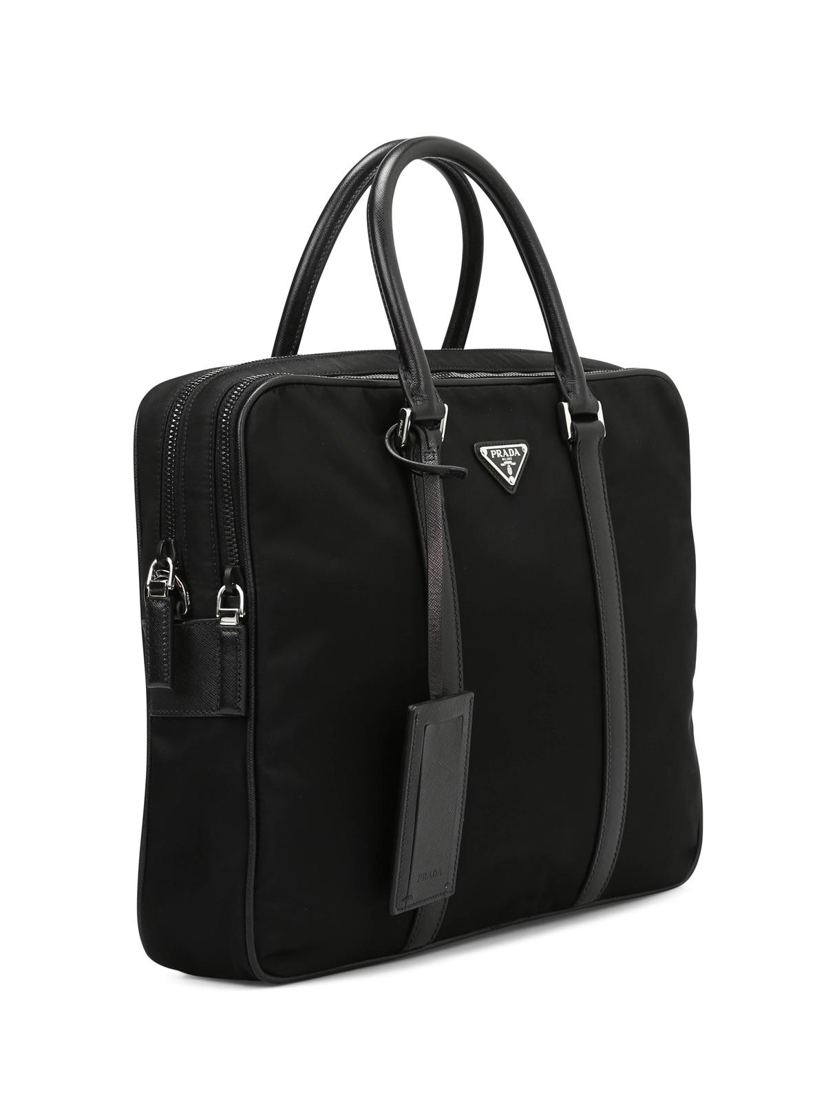 ab57d227d07d PRADA: laptop bags & briefcases online - Double zip nylon briefcase