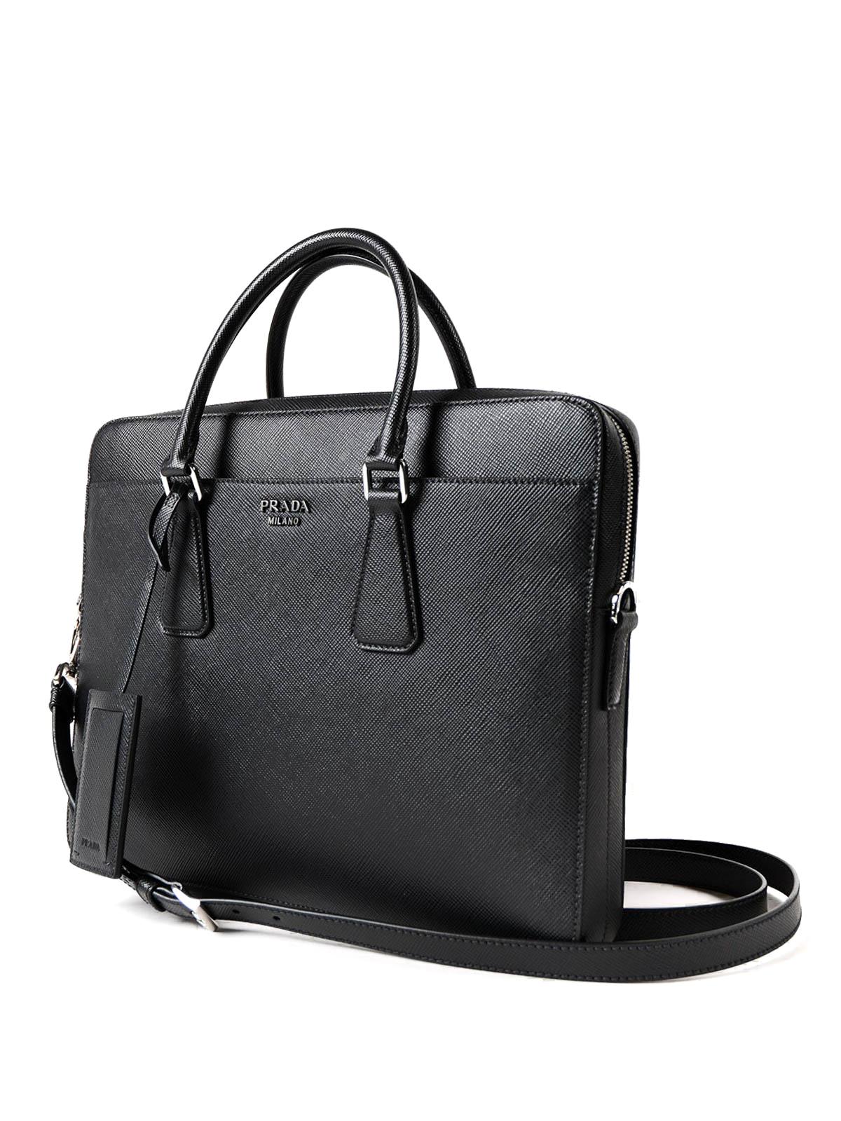 15adc583eb1c PRADA  laptop bags   briefcases online - Saffiano leather briefcase