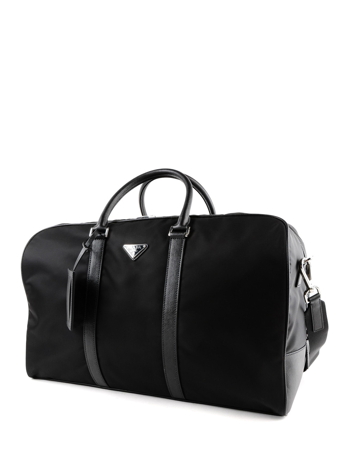 6fc4a0202ea6 PRADA  Luggage   Travel bags online - Fabric travel duffle bag with leather  details