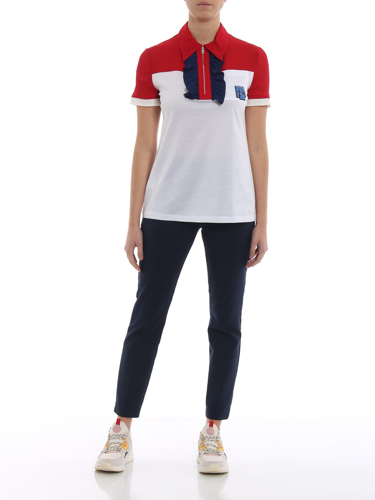 24bedf71 Prada Polo Shirt White - Nils Stucki Kieferorthopäde