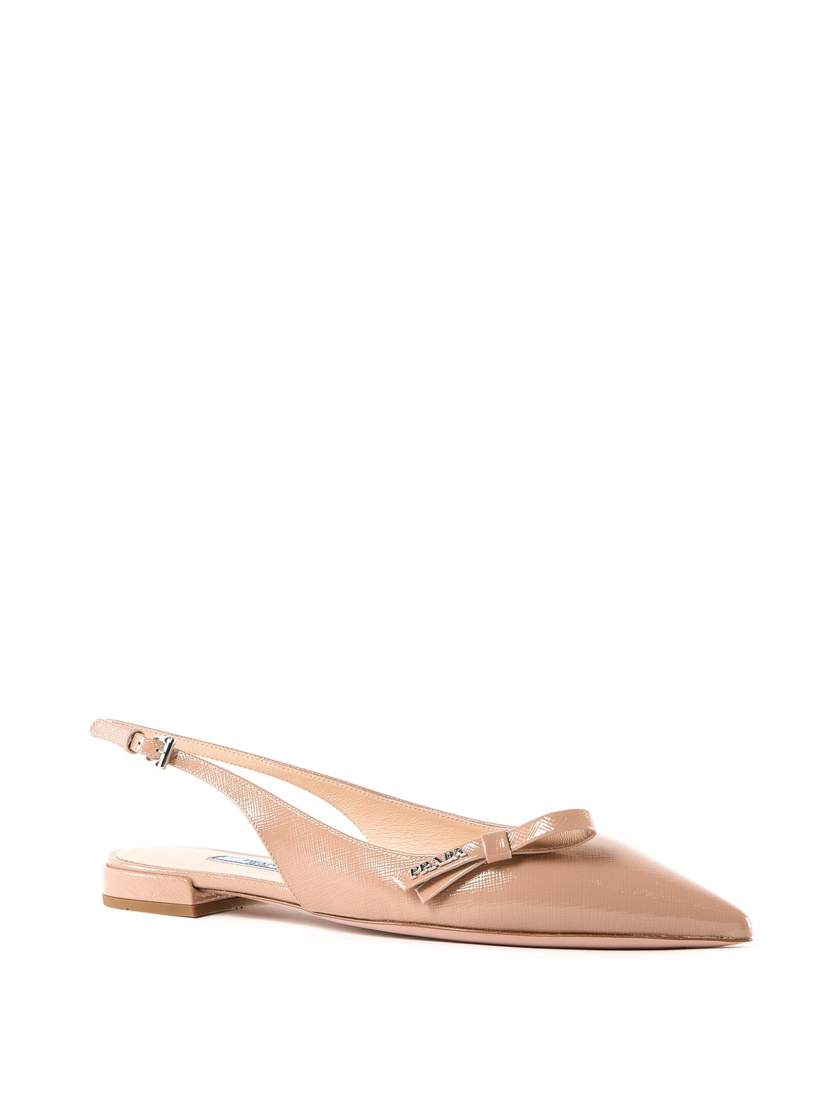 832d97ca3850 PRADA  sandals online - Pink patent leather slingback flat sandals