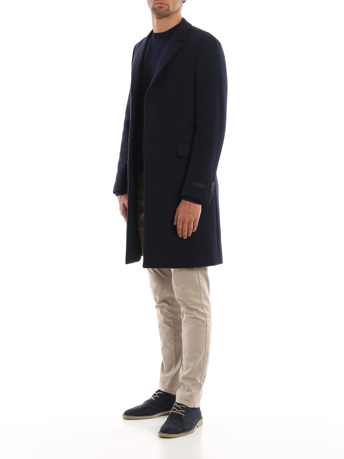 buy popular 5d069 8fad1 Prada - Cappotto in lana misto cashmere - cappotti corti ...