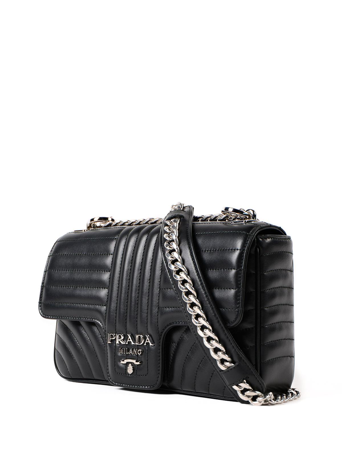 87e002302858 PRADA: shoulder bags online - Diagramme leather shoulder bag