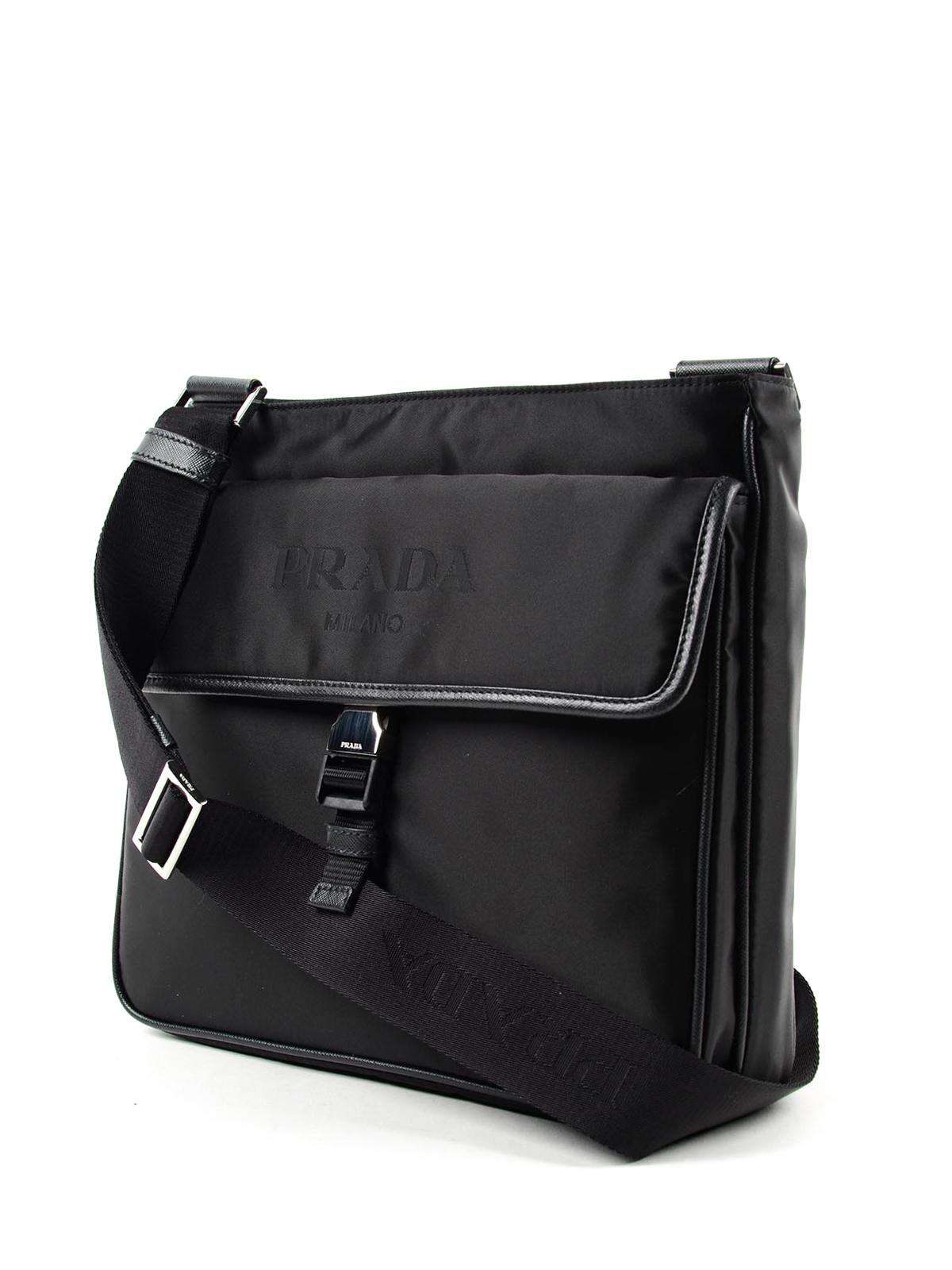 9c408ad3d8 Prada - Saffiano and nylon messenger bag - shoulder bags - 2VH269064 002
