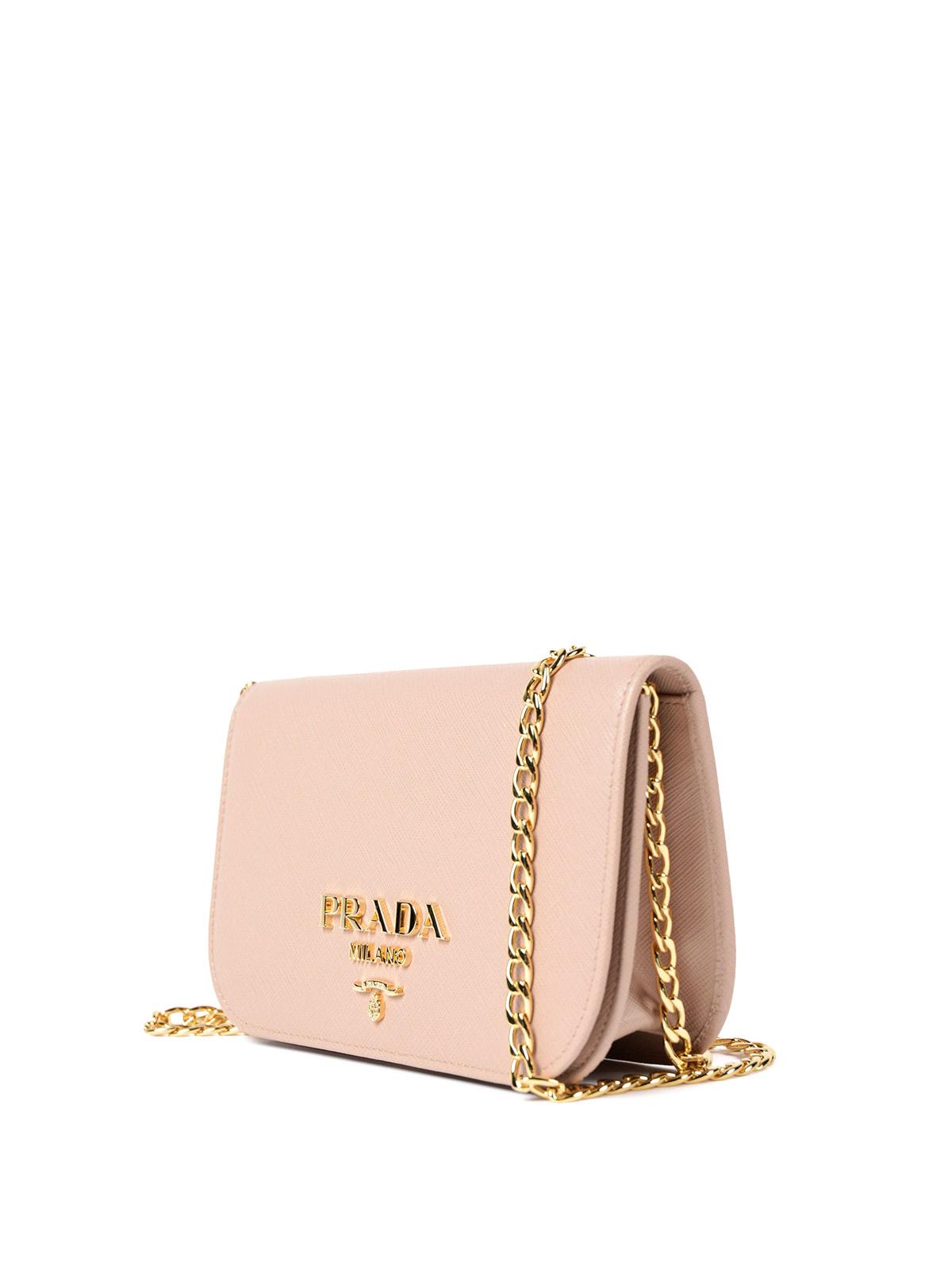 1445a33c02 Prada - Saffiano leather small pink bag - shoulder bags - 1BH019NZVVTR