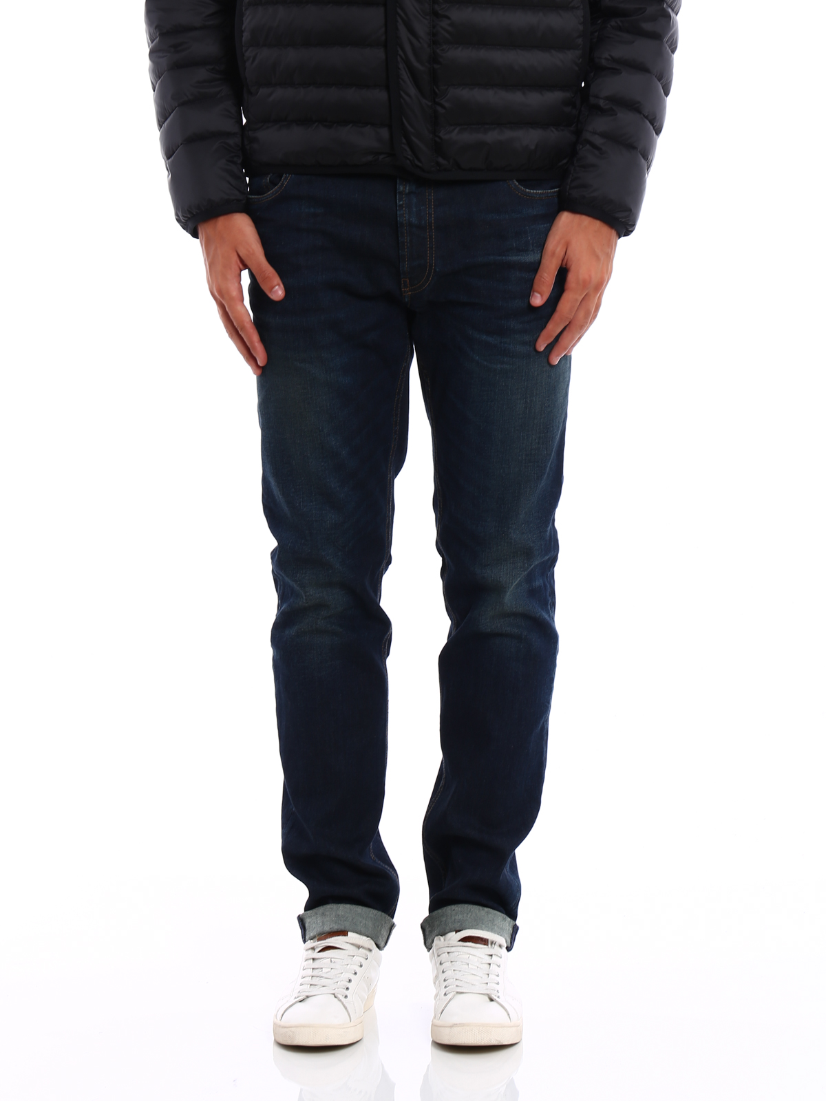 d985fb686e54d Prada - Straight Leg Jeans - Dark Wash - Straight Leg Jeans - GEP083 ...