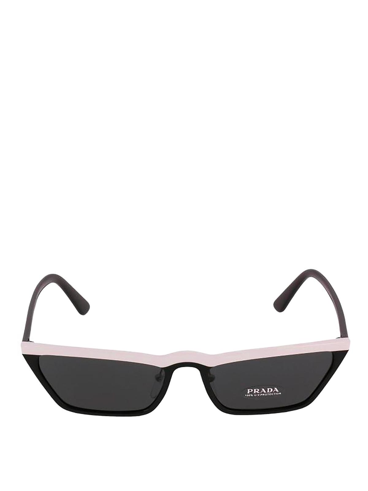 fb43ac45fd9a Prada - Ultravox black and pink sunglasses - sunglasses - SPR19U YC45S0