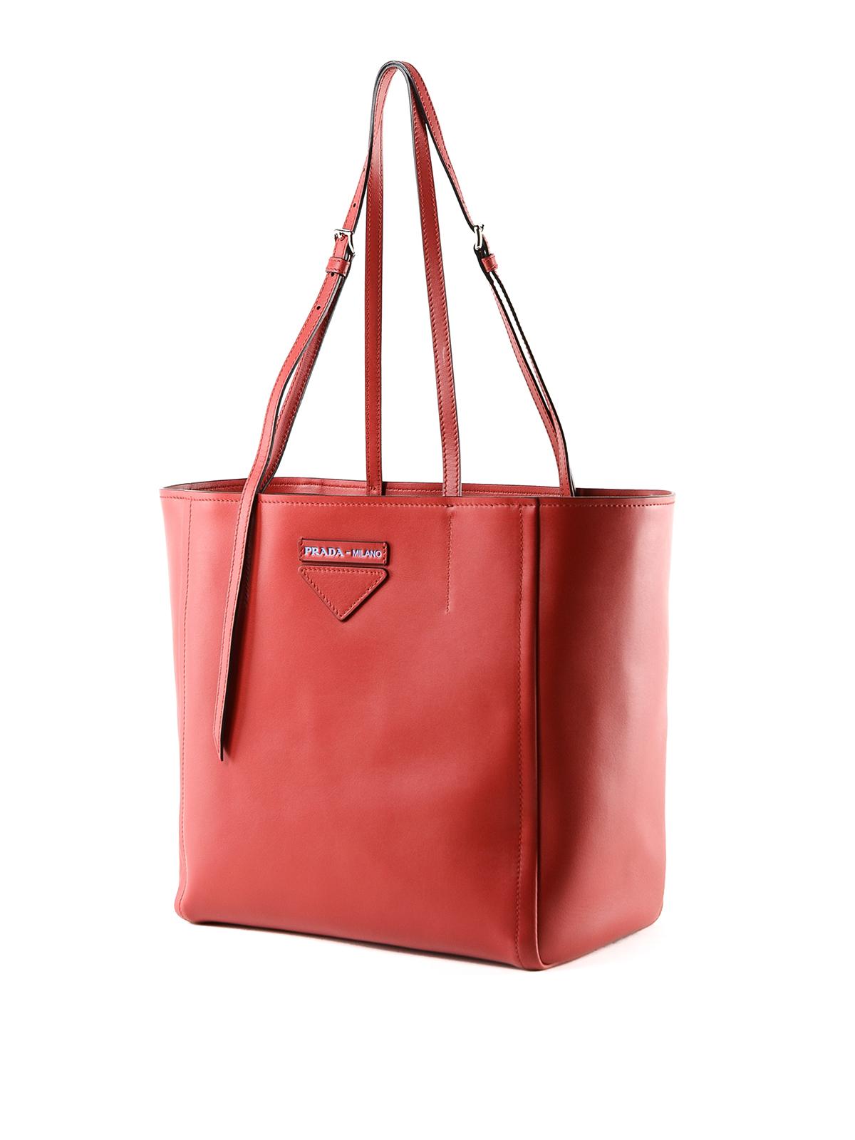 2dc83ab14431 Prada - Concept small red leather tote bag - totes bags - 1BG2092B2J CF5