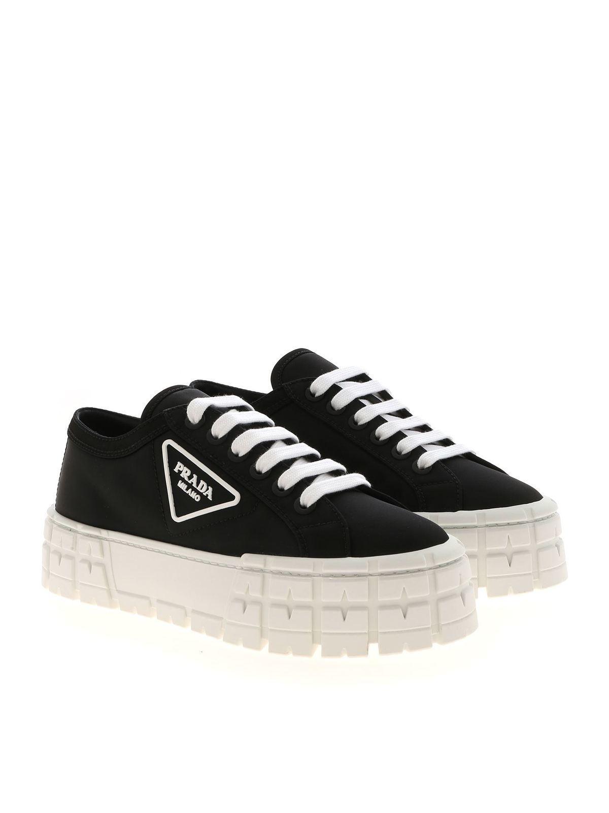 Prada - Platform sneakers in black