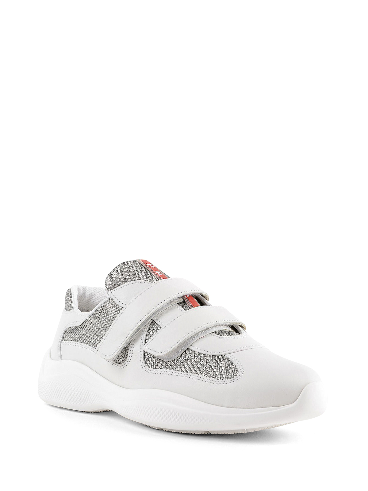 Prada - White and silver sneakers with