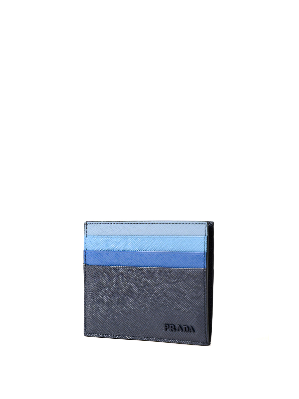 a3773dea18d2 PRADA: wallets & purses online - Fading blue saffiano card holder