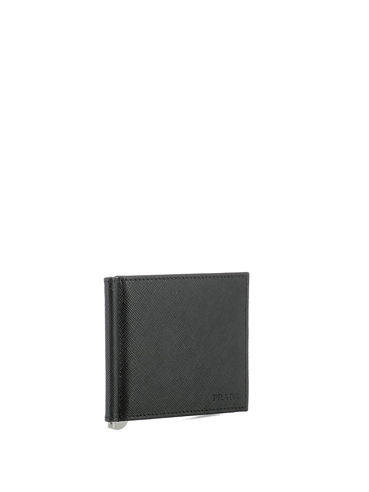 ec692d270154a7 PRADA: wallets & purses online - Money clip black leather wallet