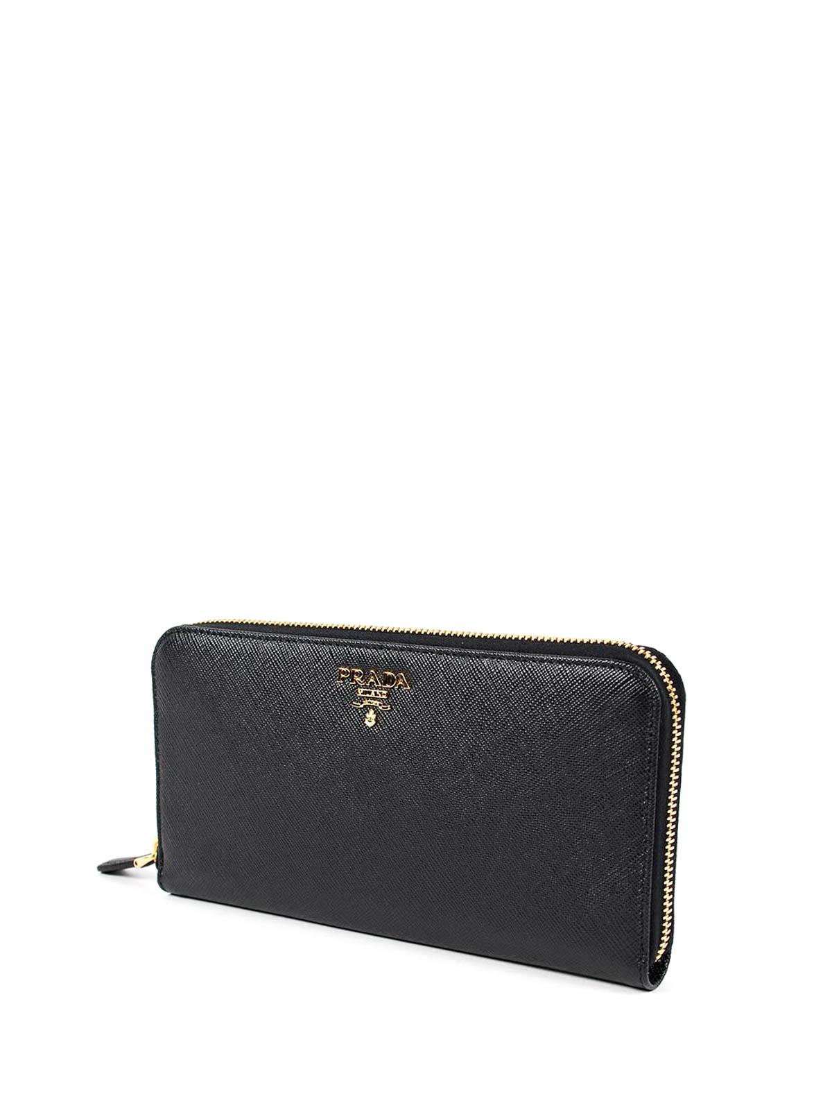 4ee43e859dc09d PRADA: wallets & purses online - Saffiano leather zip around wallet