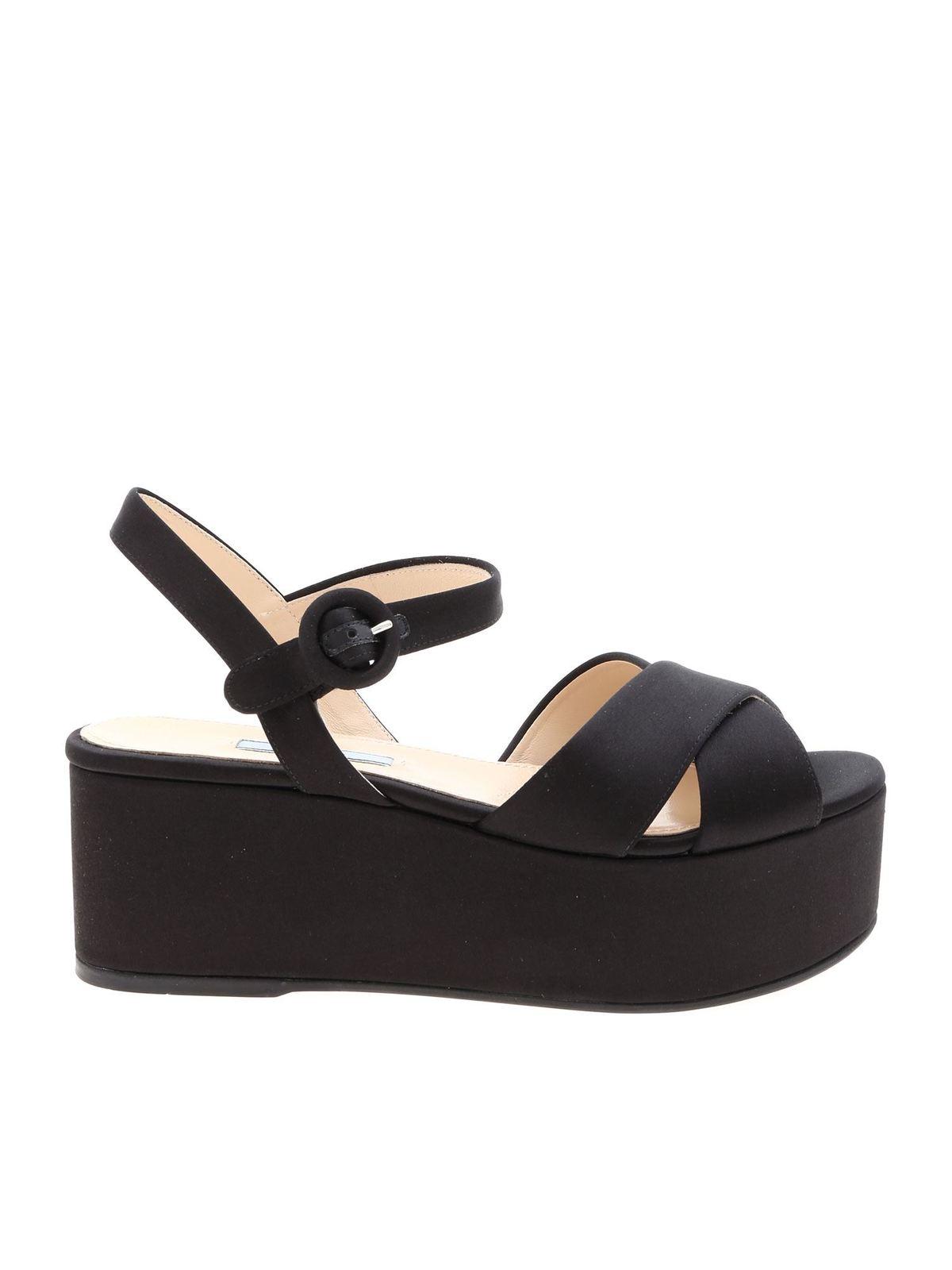 Prada Sandali in raso nero sandali 1XZ672049F0002