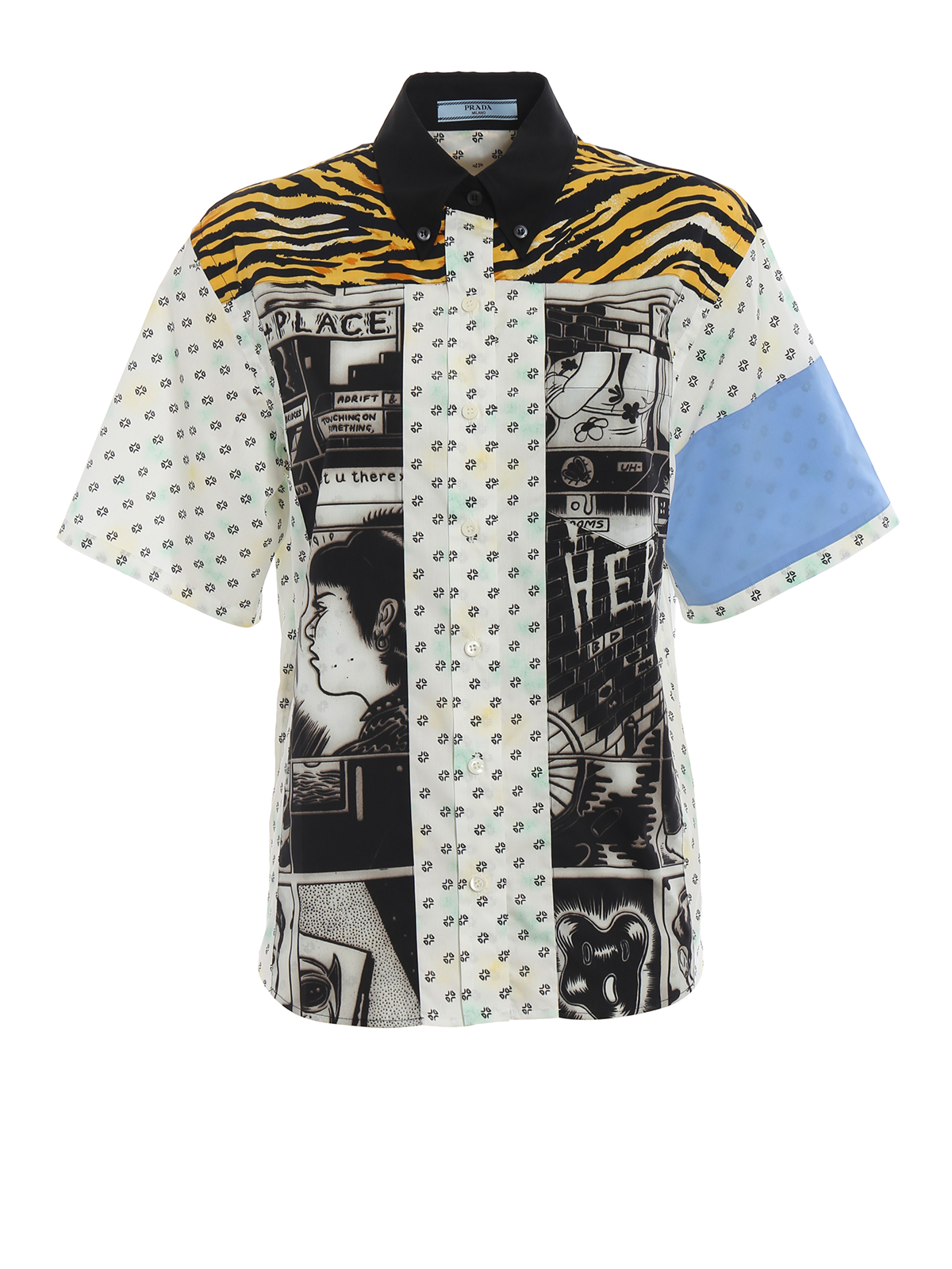 d2800e28e6 Prada - Comics print cotton poplin shirt - shirts - P460CM1RFMF0032