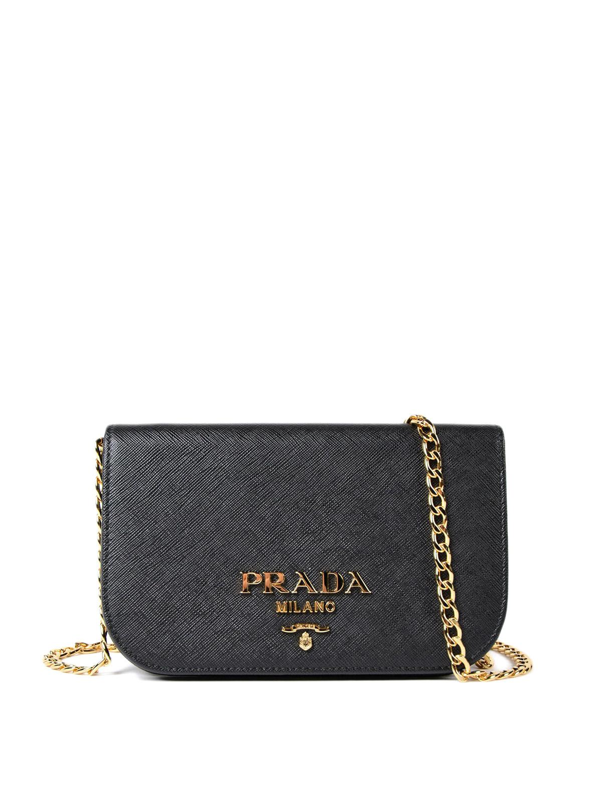 Saffiano leather small black bag by Prada