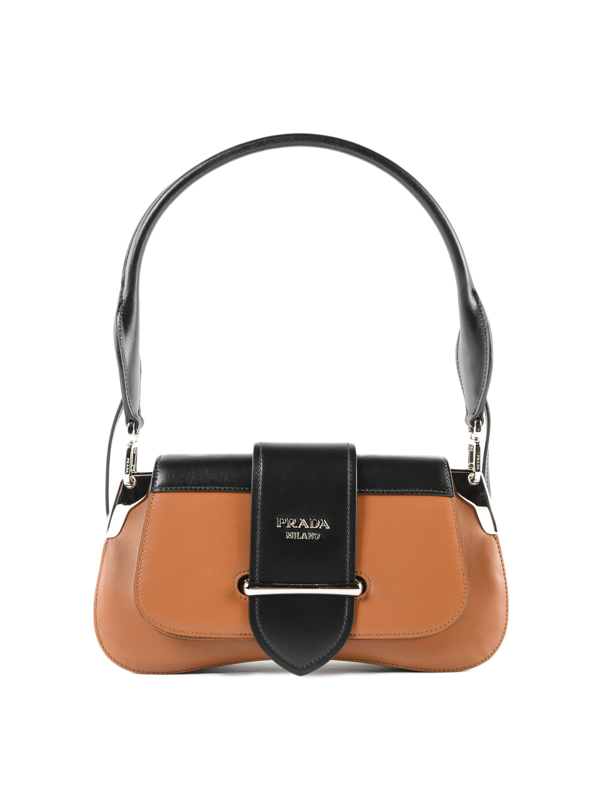 04ca9cbbae53 Prada - Sidonie two-tone leather shoulder bag - shoulder bags ...