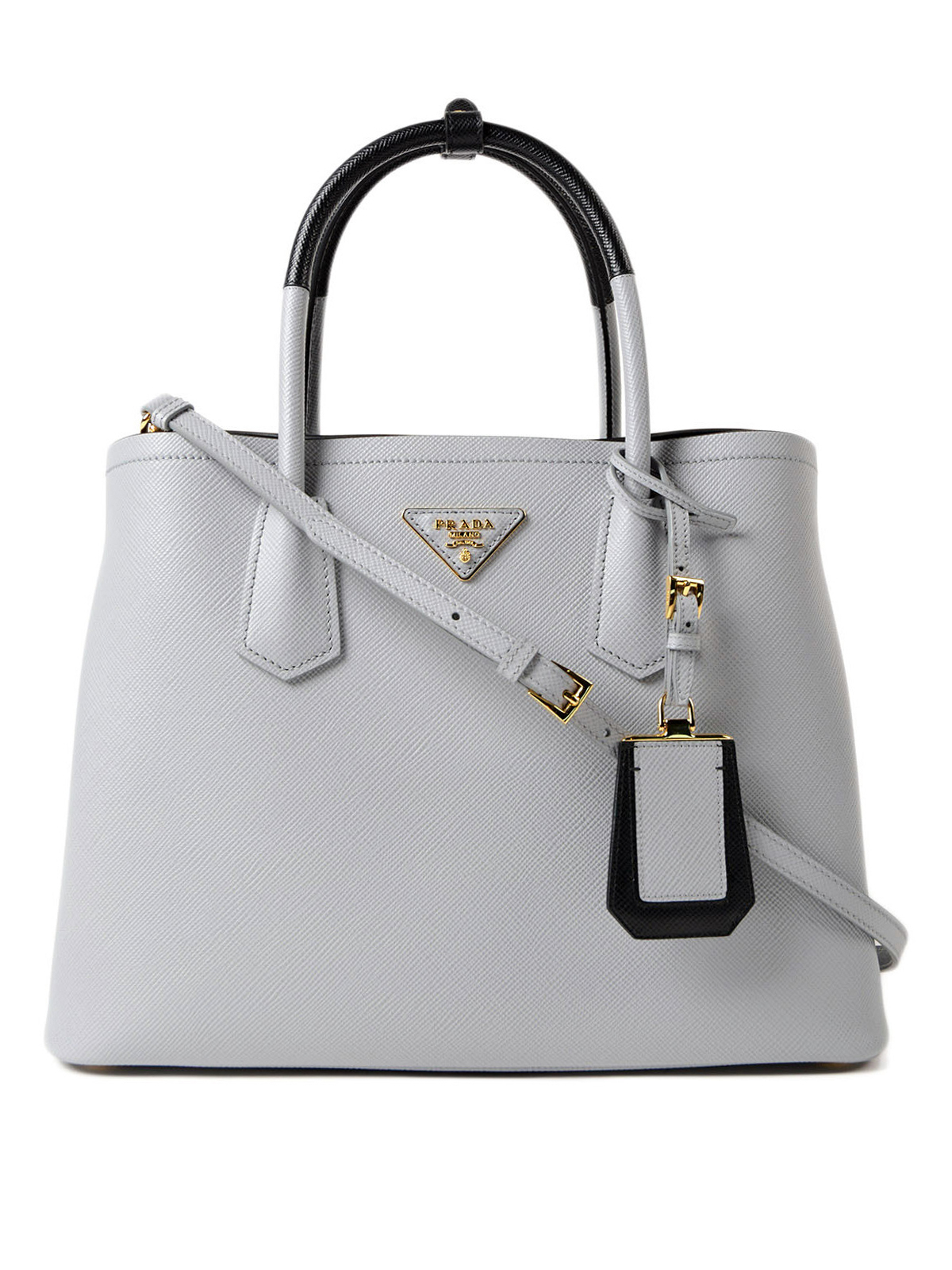 Prada - Double saffiano leather tote - totes bags - 1BG7752A4AF0772VOOM 5c06cd7c79