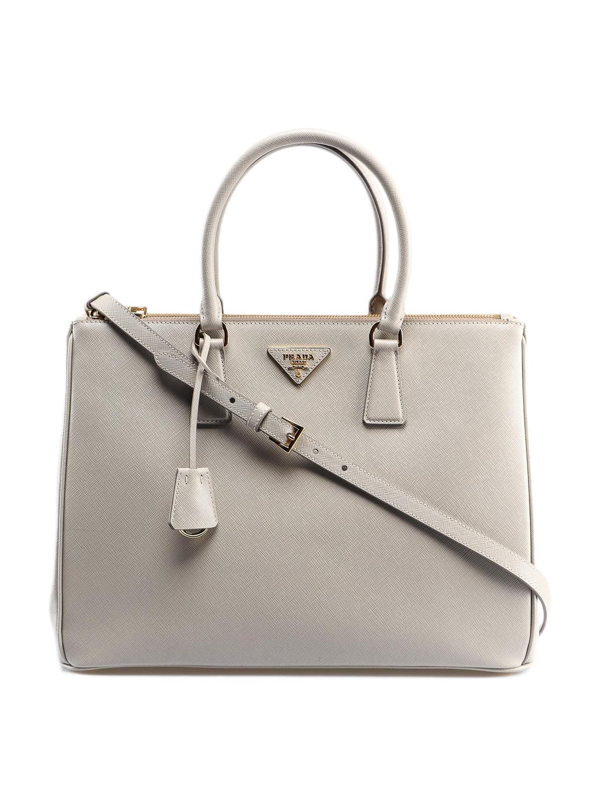 3bbdde271bbc Prada - Galleria grey saffiano leather tote bag - totes bags ...