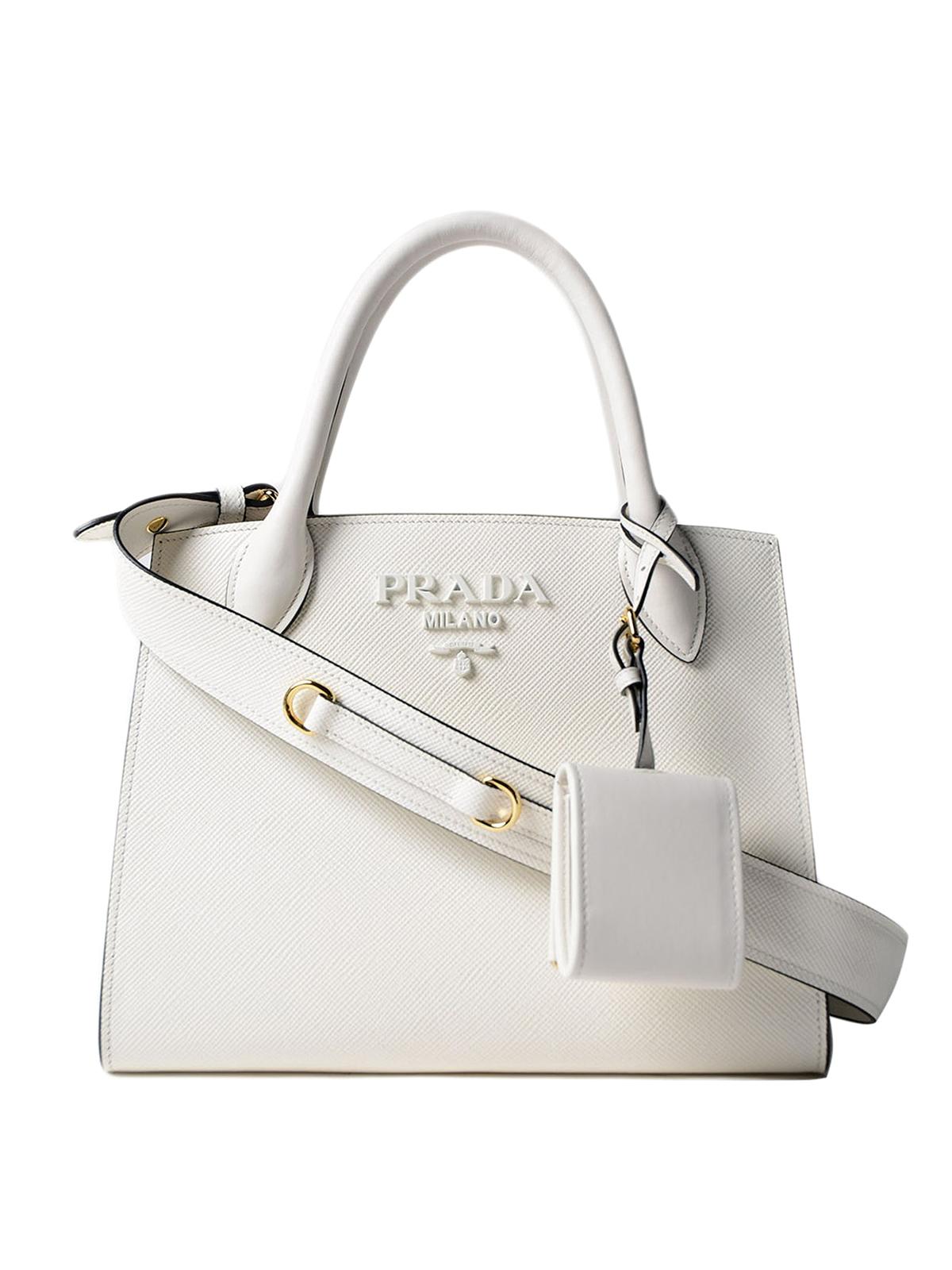 38945b5193c4 Prada - Monochrome saffiano leather tote - totes bags - 1BA1562ERX009