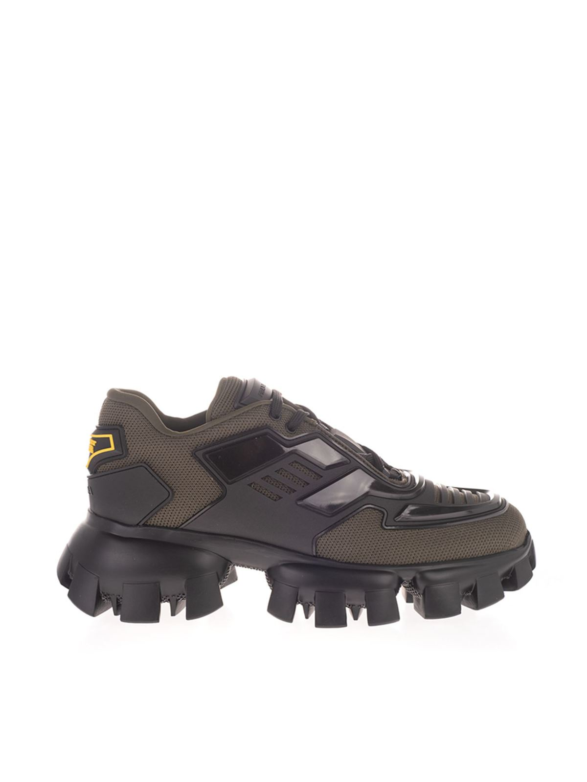 PRADA CLOUDBUST THUNDER SNEAKERS IN GREEN