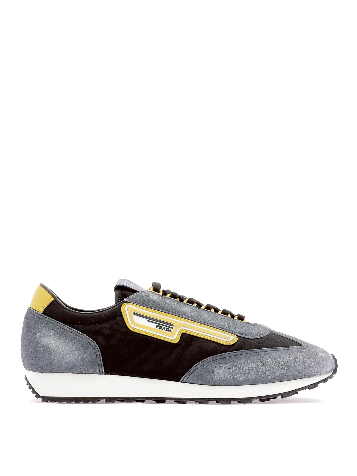 39c1a8d81b Prada - Fabric and used suede sneakers - trainers - 2EG2763KUYF0002
