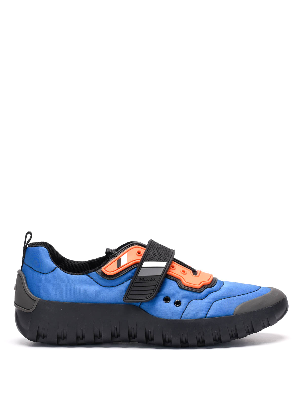 Prada Nylon And Rubber Sneakers In Blue