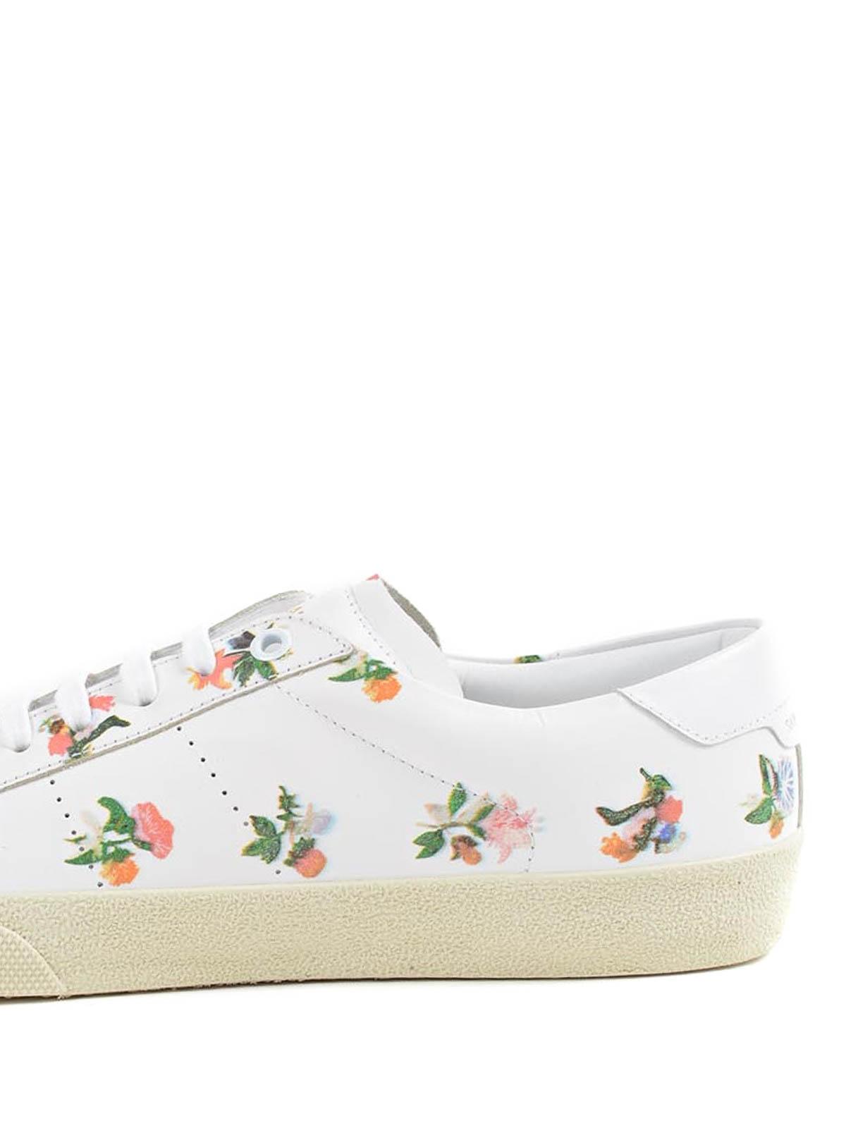 Saint Laurent - Praire Flower sneakers - trainers - 419195 DH430 9072 1e1f3bf36a3d