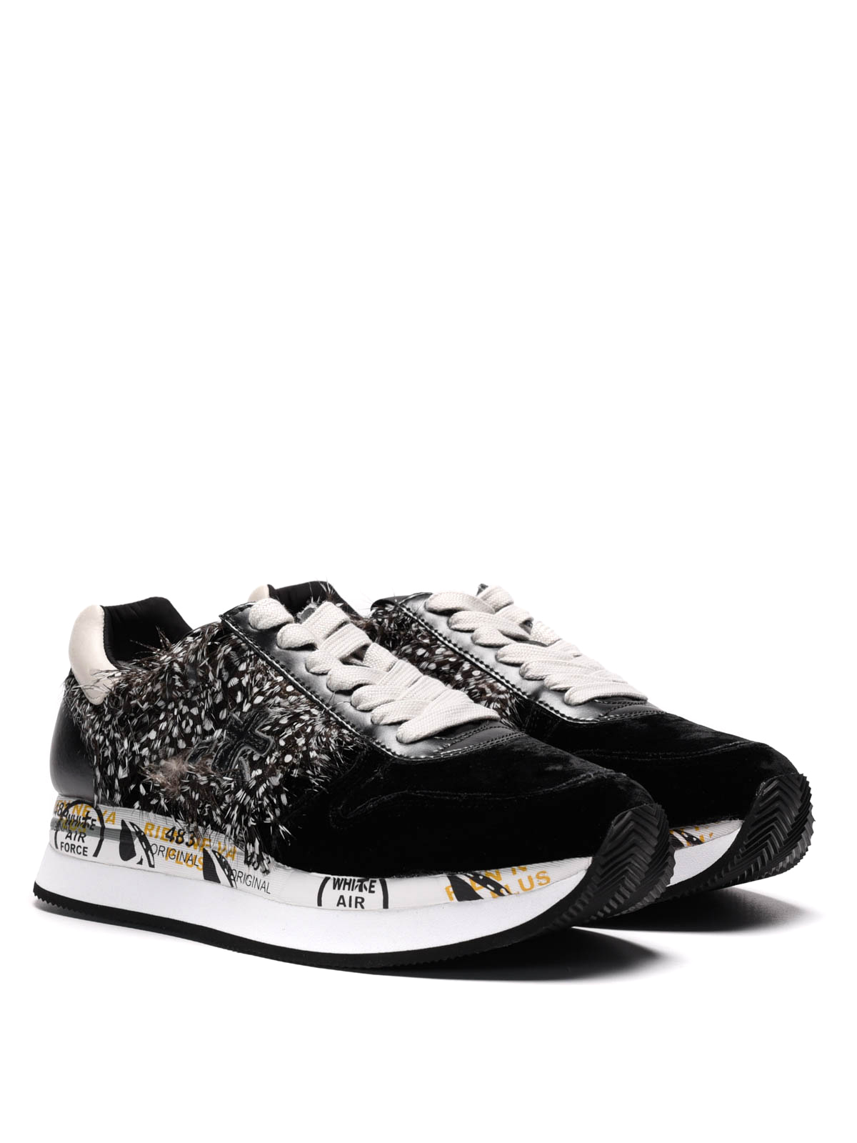 Premiata Holly Holly1767 Piume E Velluto In Sneaker Sneakers 181Og