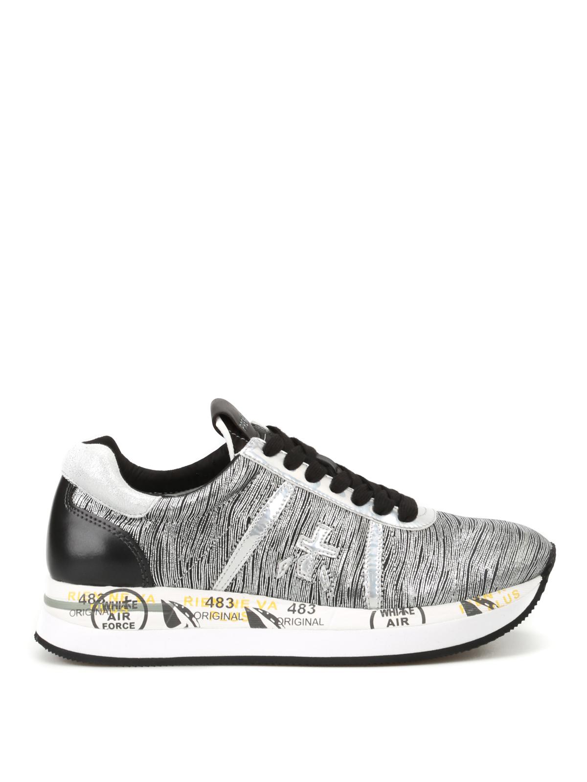 Premiata Sneaker Conny in pelle argentata sneakers
