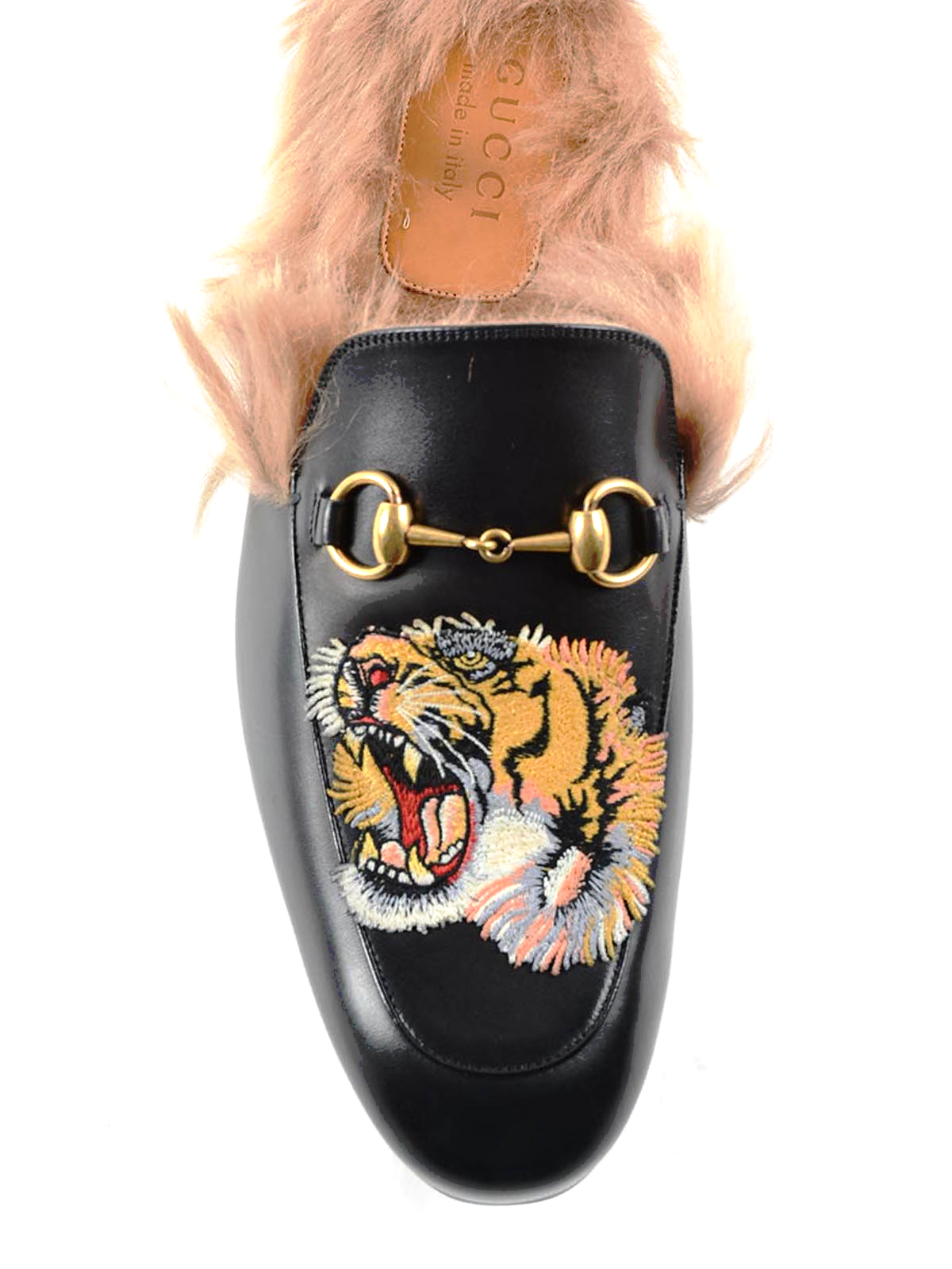7858b29f36a Gucci - Princetown tiger patch slippers - Loafers   Slippers ...