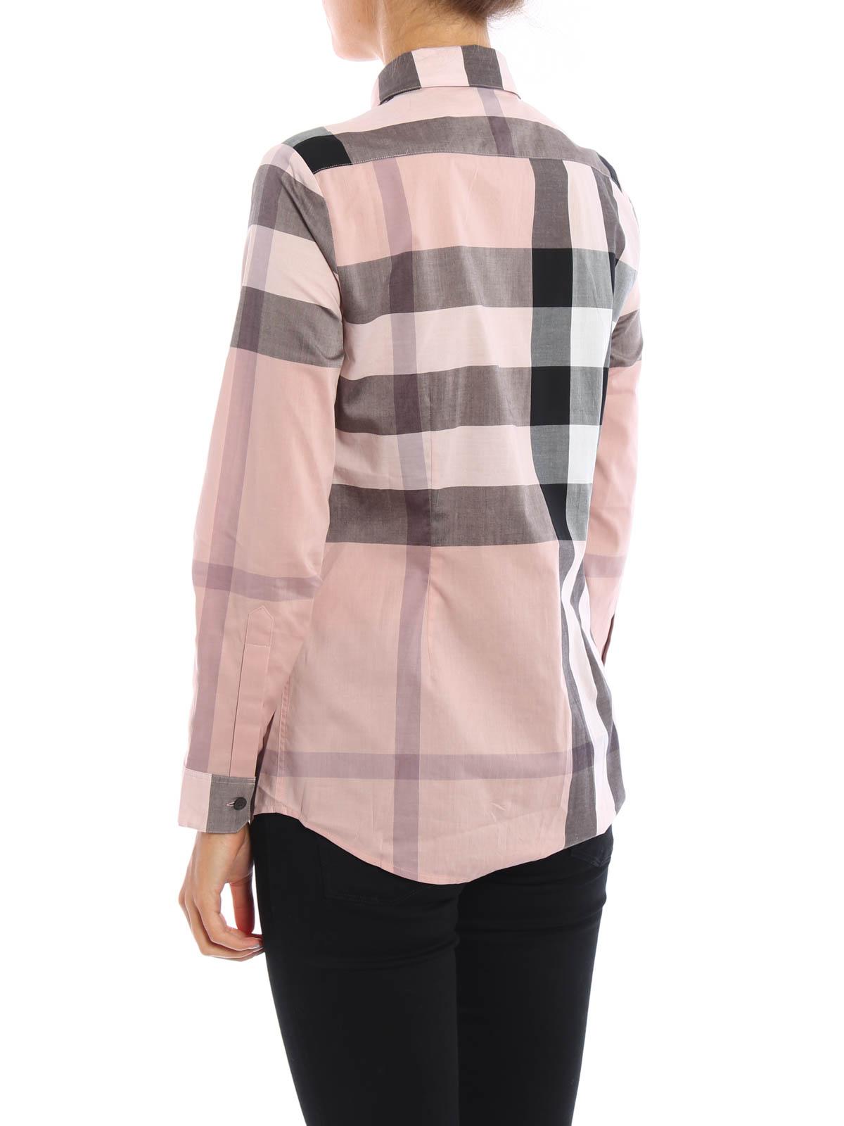 camicia in cotone stampato burberry camicie ikrix. Black Bedroom Furniture Sets. Home Design Ideas