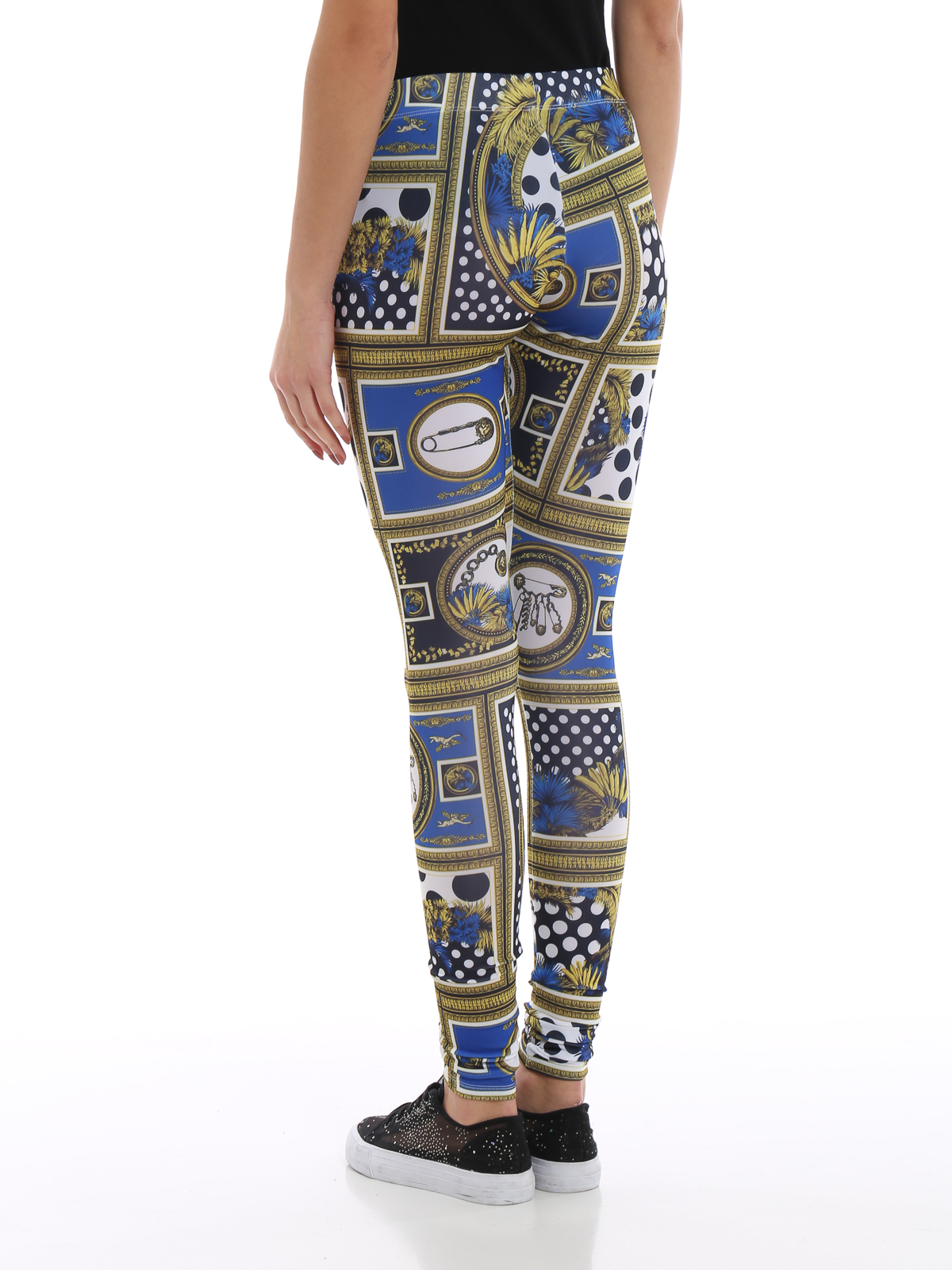 b245fca78a Versus Versace - Printed jersey leggings - leggings ...