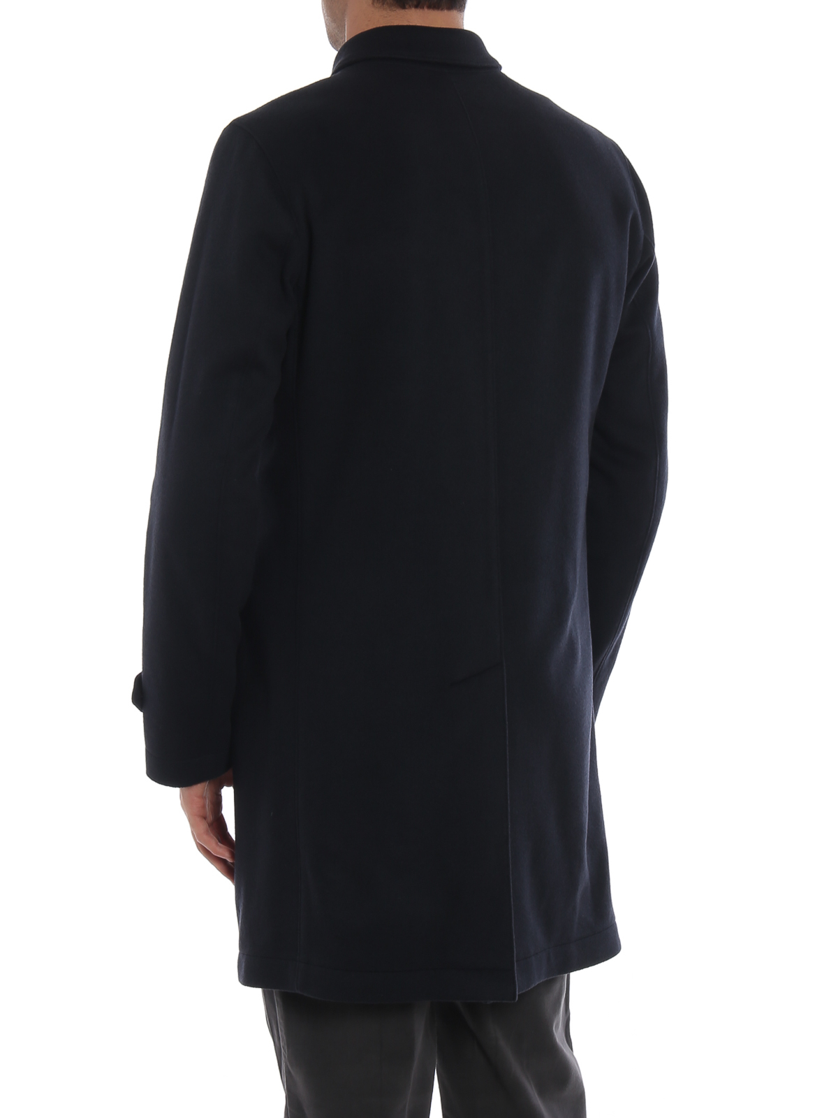 fc60d5bef7 Herno - Pure cashmere single breasted soft coat - short coats ...