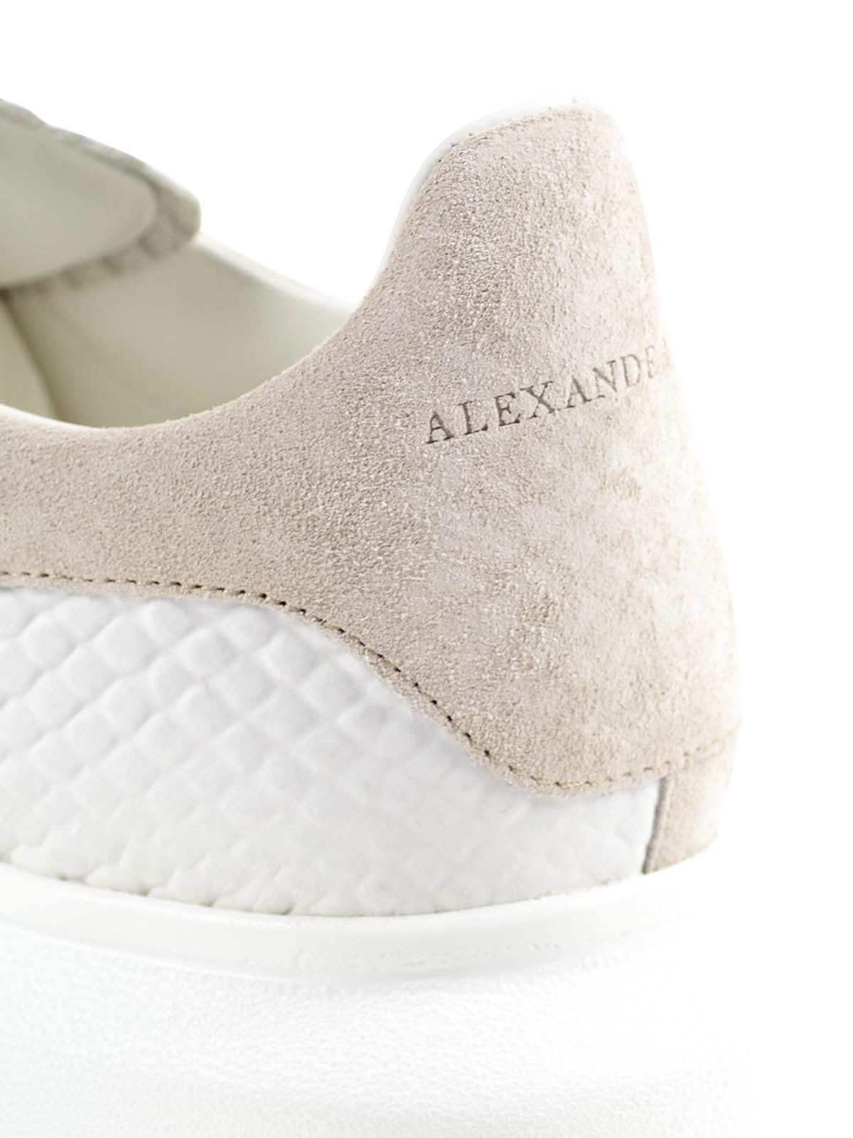 Alexander Mcqueen - Python print leather sneakers - trainers ...