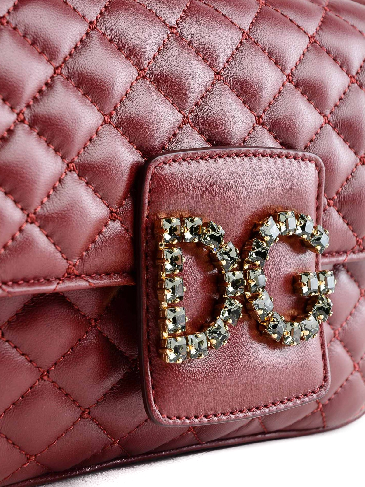 1ee255a488 Quilted leather DG Millennials red small bag shop online  DOLCE   GABBANA